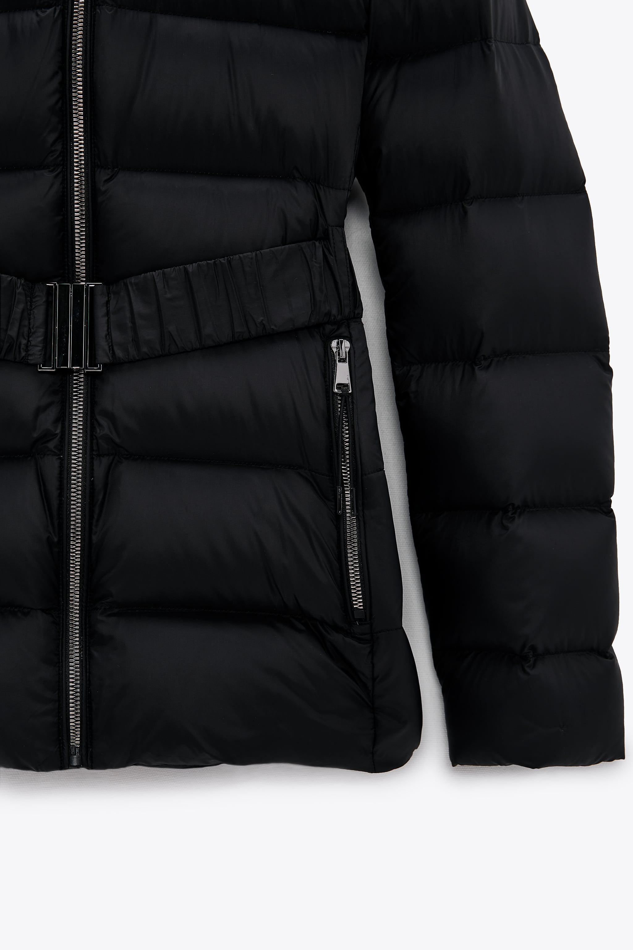 DOWN JACKET WITH FAUX FUR HOOD 6