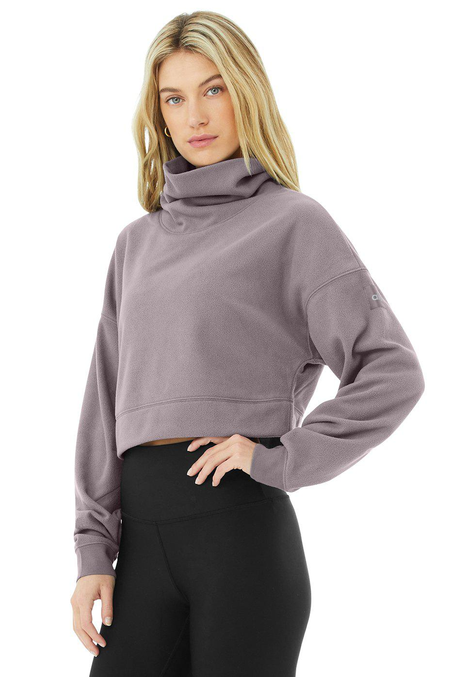 Cropped Warm Up Pullover - Purple Dusk 1