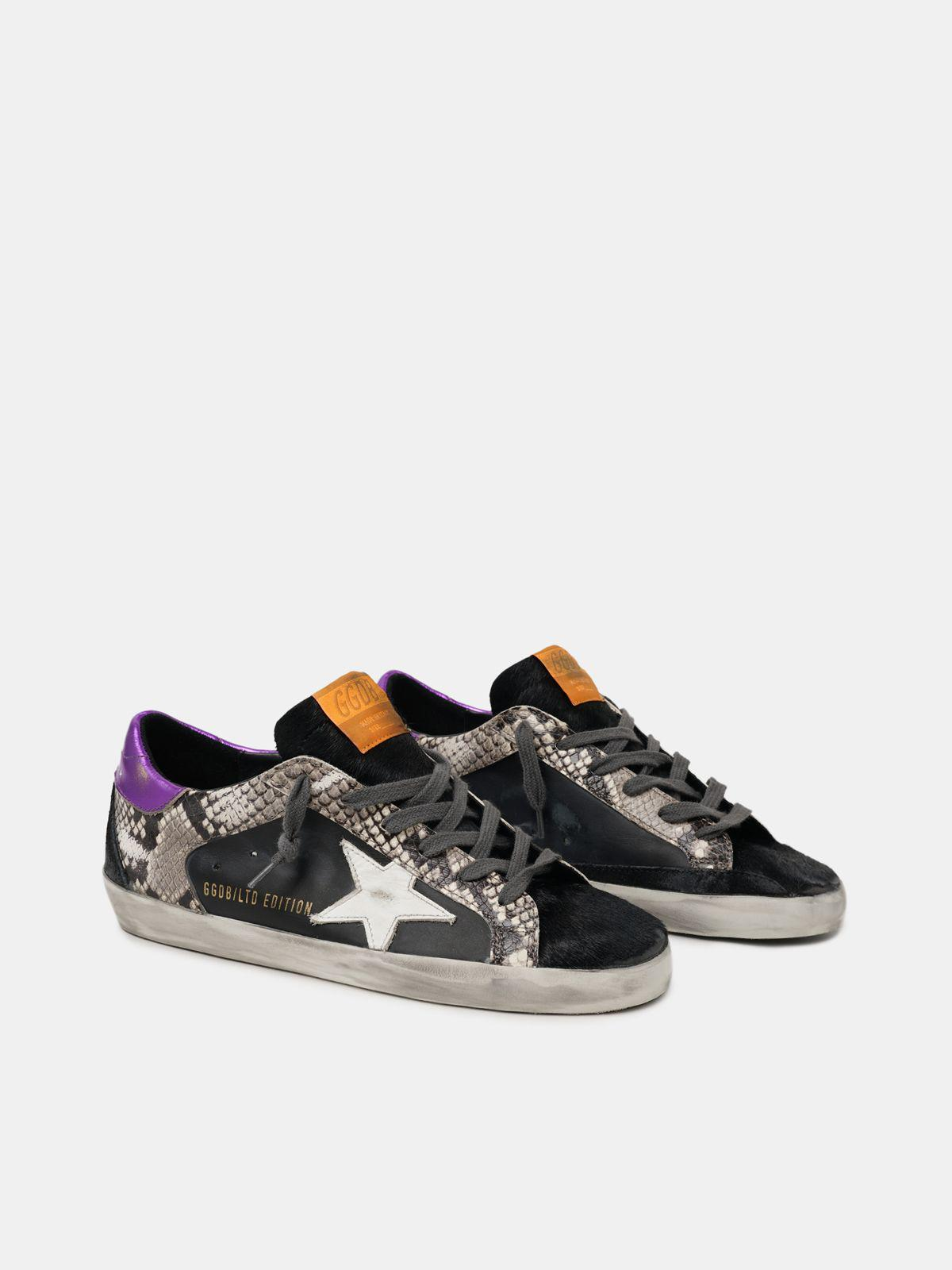 Women's Limited Edition LAB snake-print Super-Star sneakers with purple heel tab 2