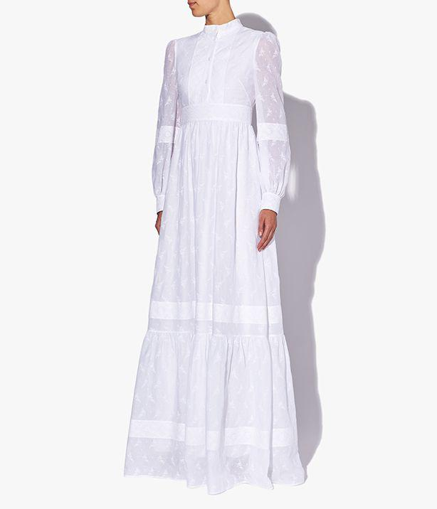Ulrica Wedding Gown Ditsy Cotton Voile