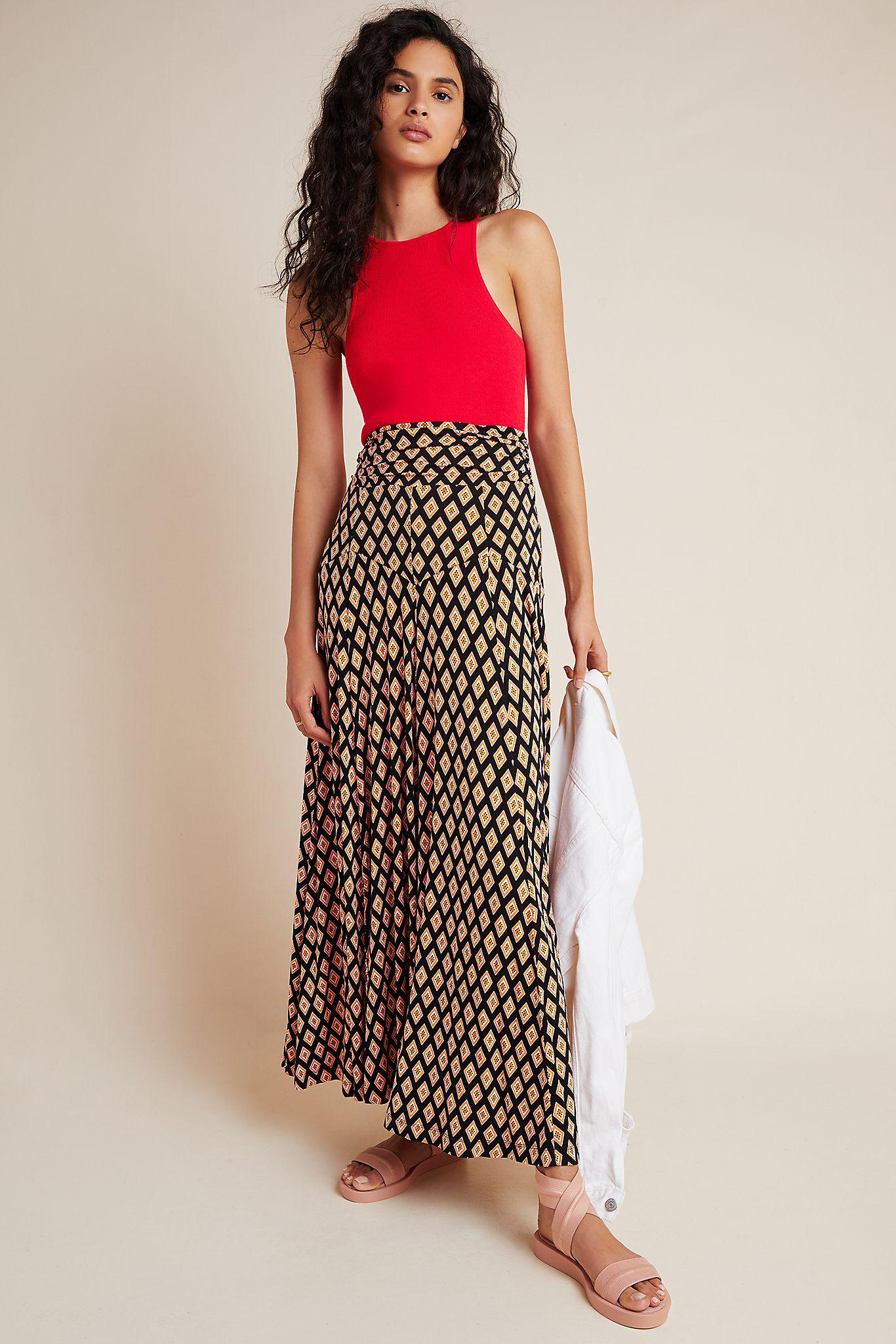 Maeve Abstract Maxi Skirt