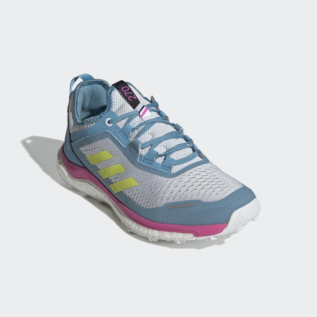 Terrex Agravic Flow Trail Running Shoes Halo Blue 8 - Womens Trail Running Shoes