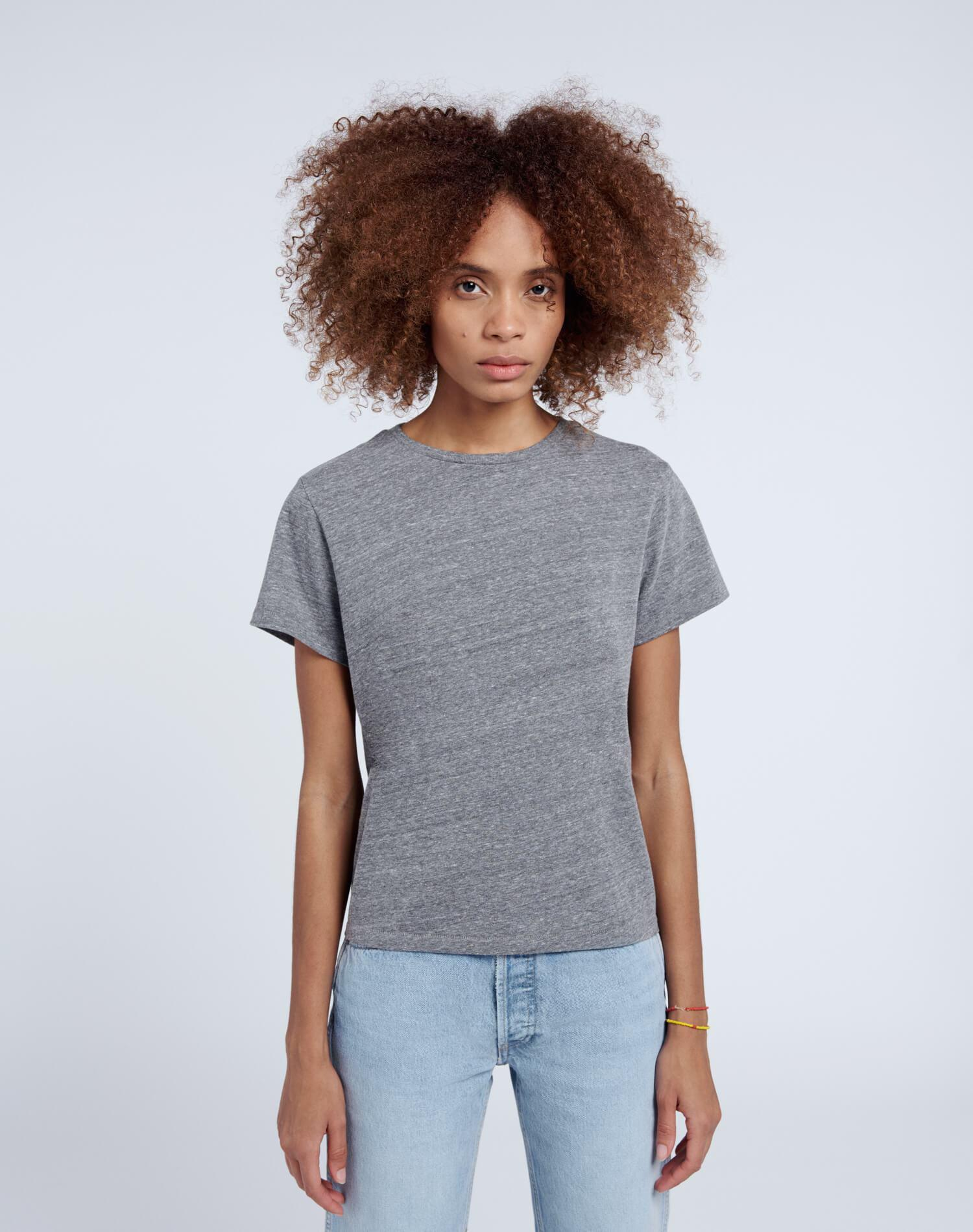 Recycled Classic Tee - Heather Grey