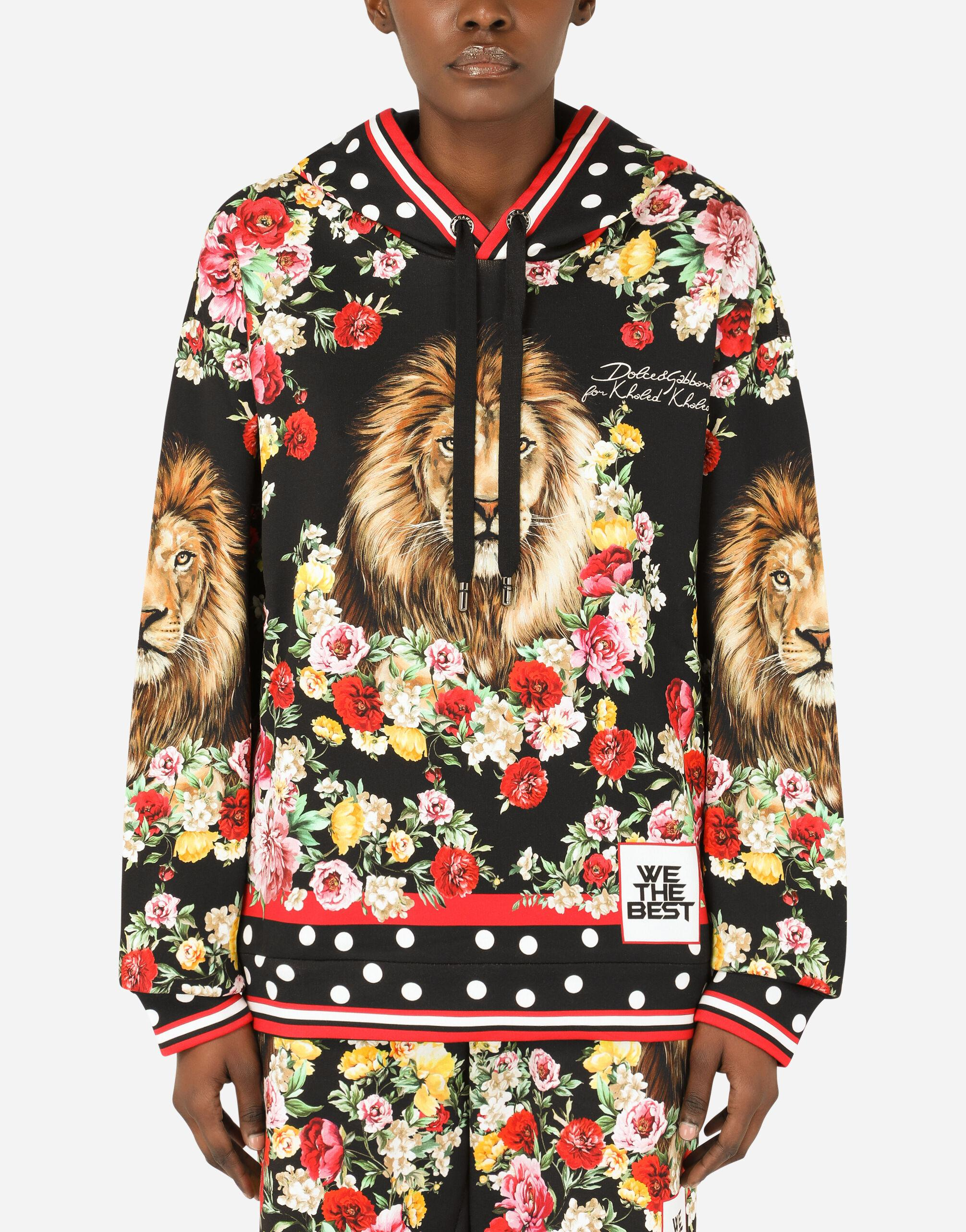 Hoodie with lion mix print 5