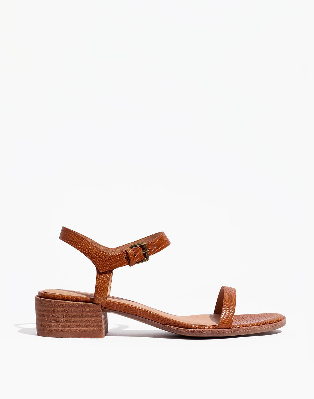 The Louise Sandal in Lizard Embossed Leather 1