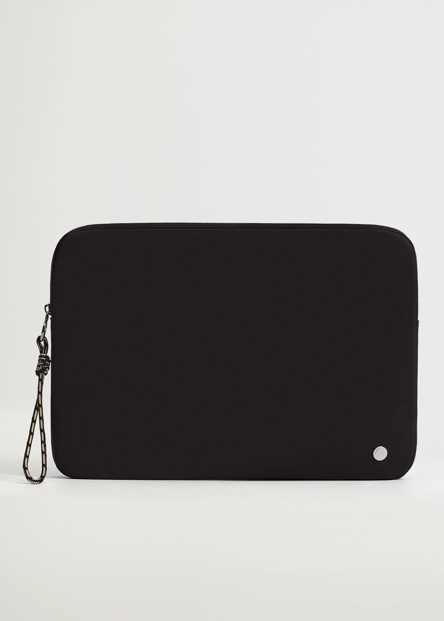 Padded laptop case with knot