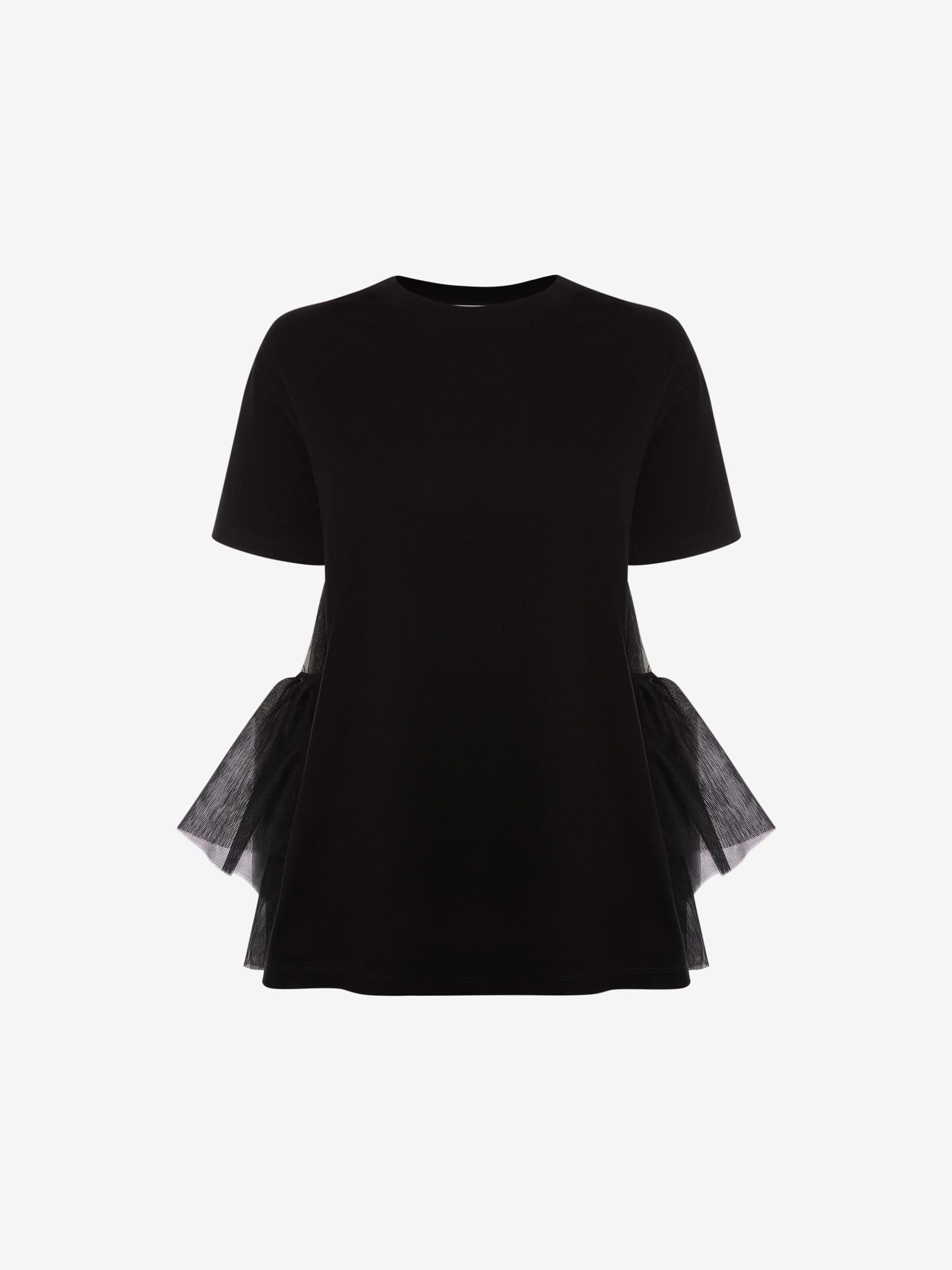 Cotton Jersey Tulle T-Shirt 3