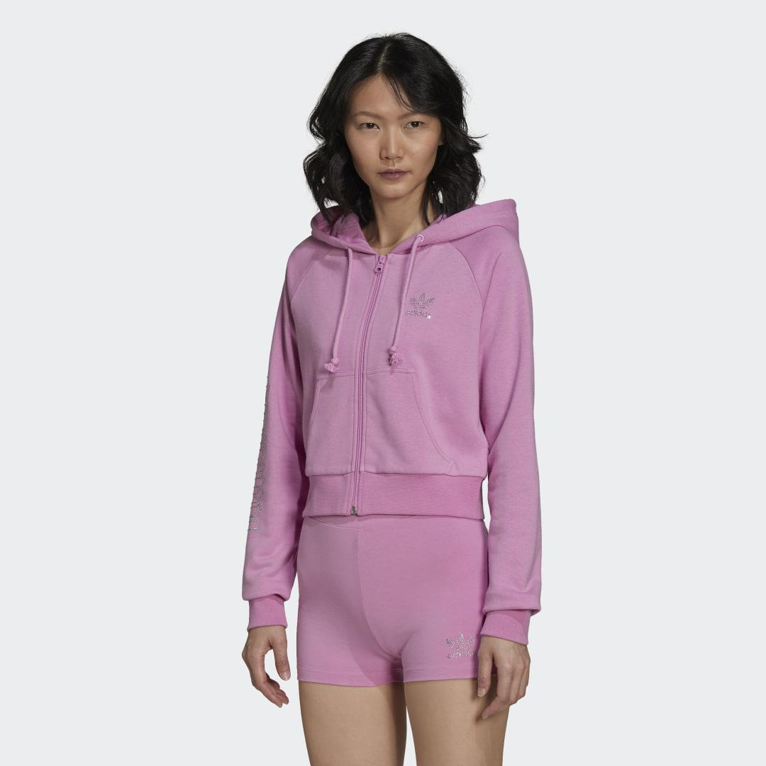2000 Luxe Cropped Track Top Bliss Orchid