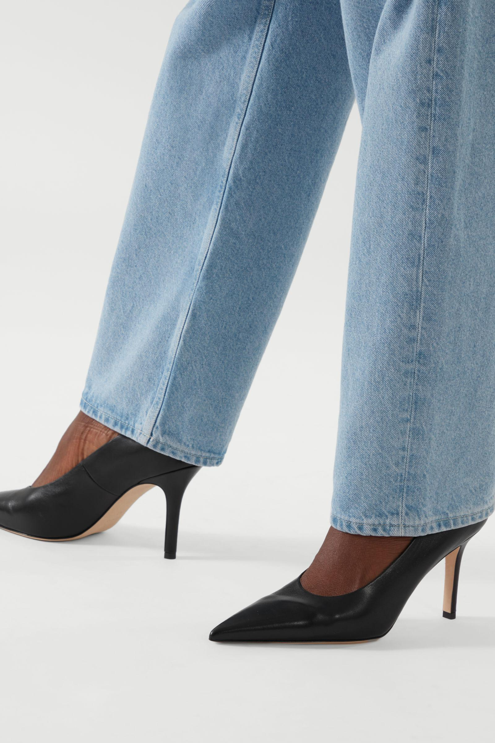 POINTED LEATHER HIGH HEELS 6