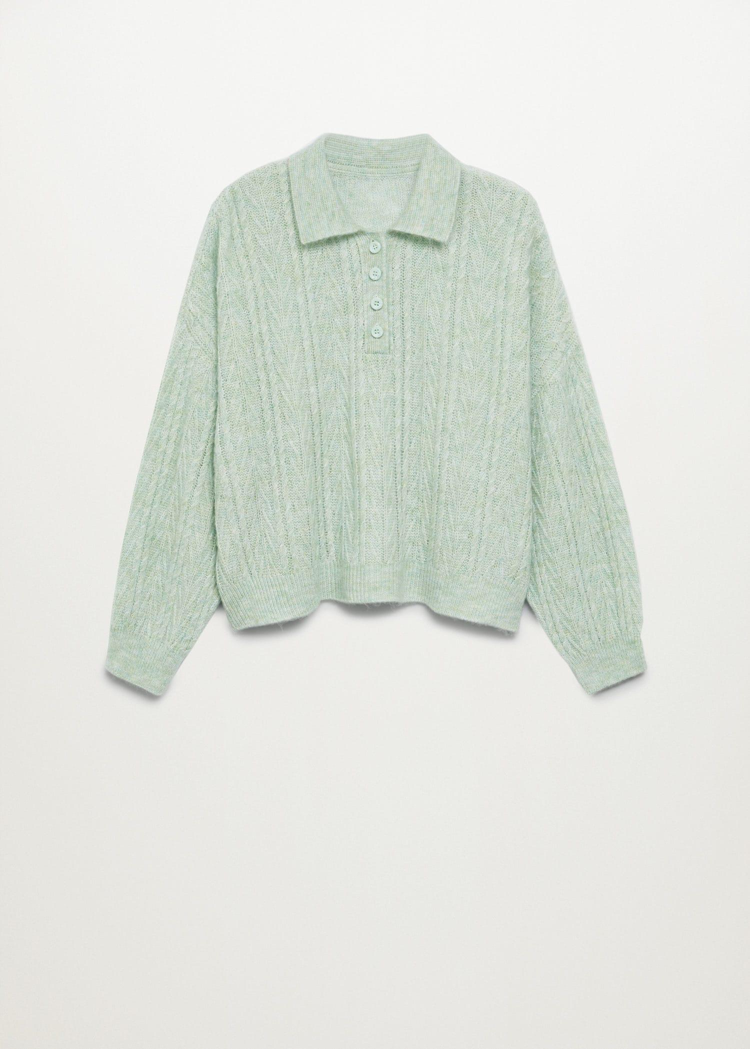 Contrasting knitted polo shirt 8
