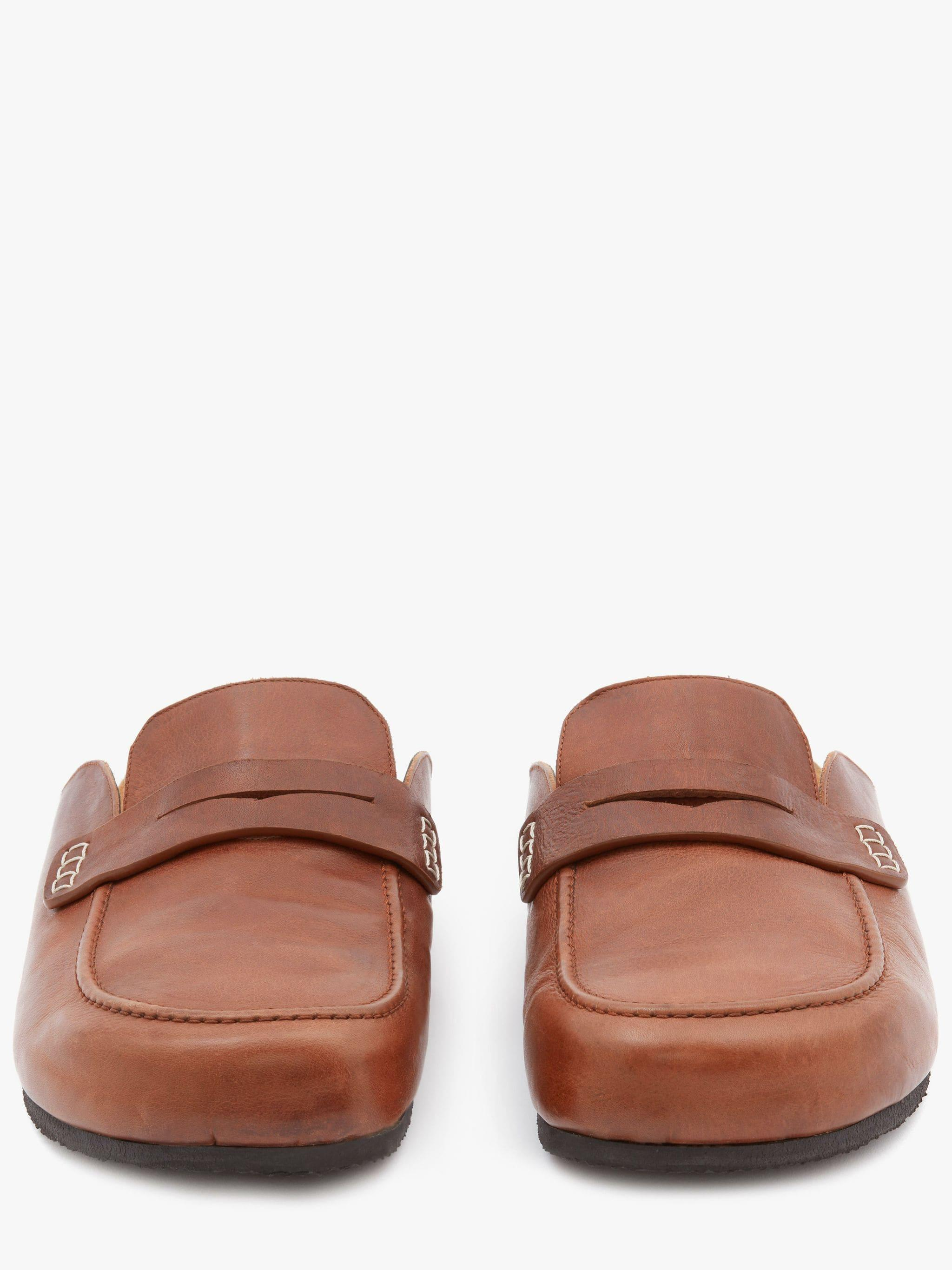 LEATHER LOAFER MULES 2