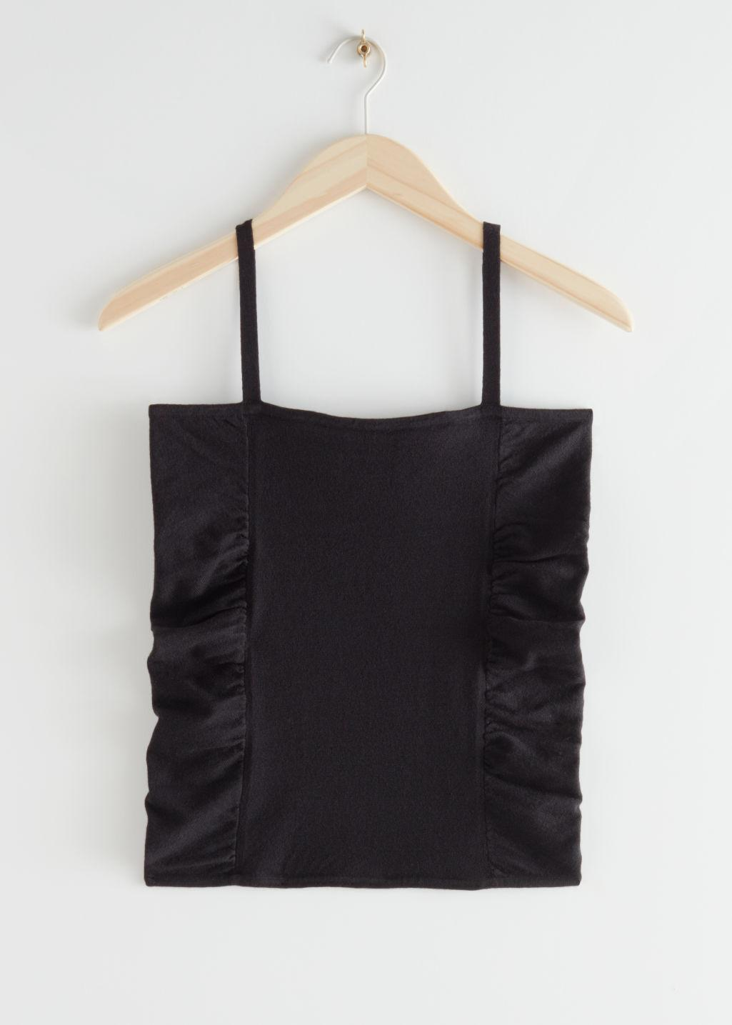 Fitted Ruched Strap Top