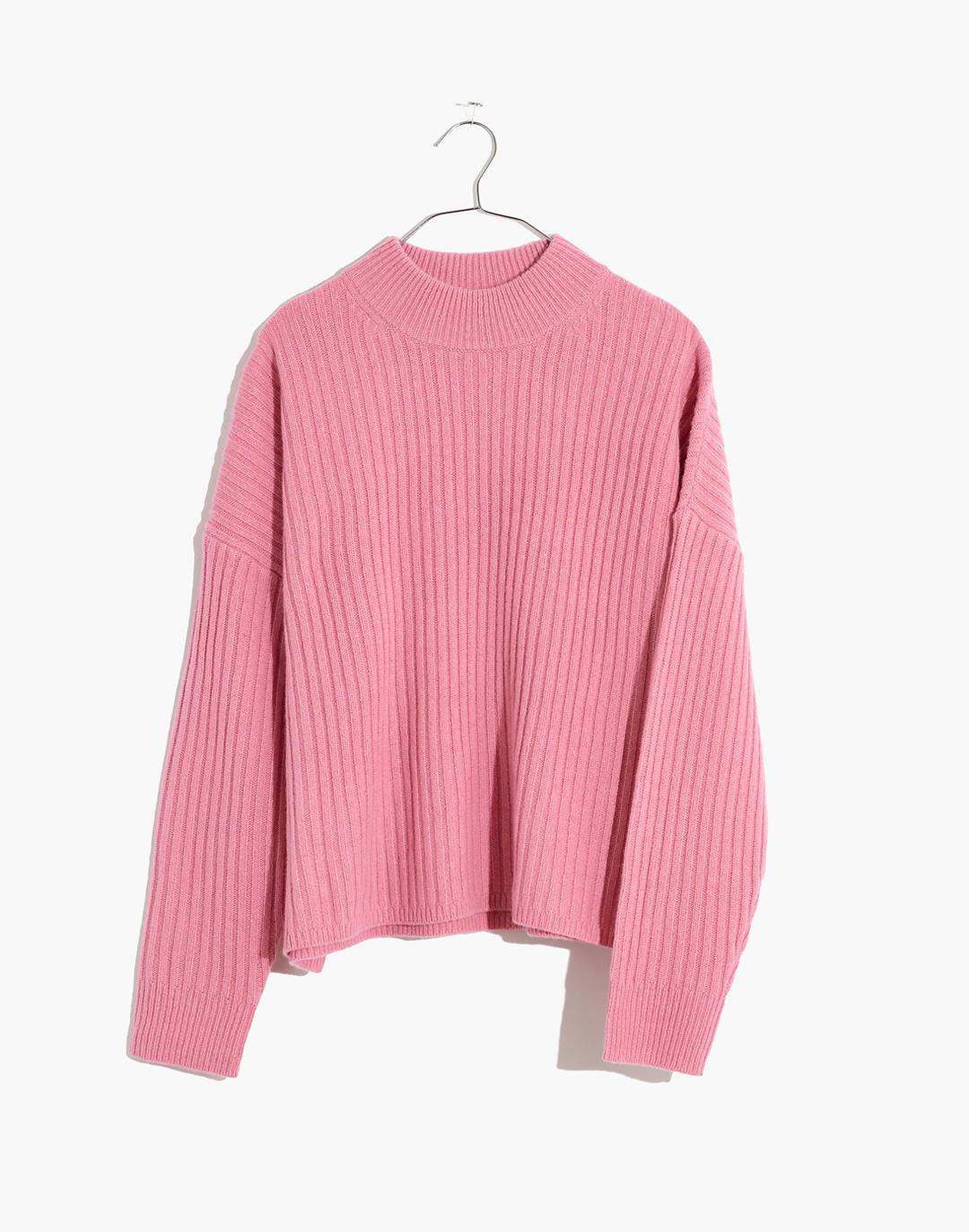 (Re)sourced Cashmere Ribbed Mockneck Pullover Sweater 4