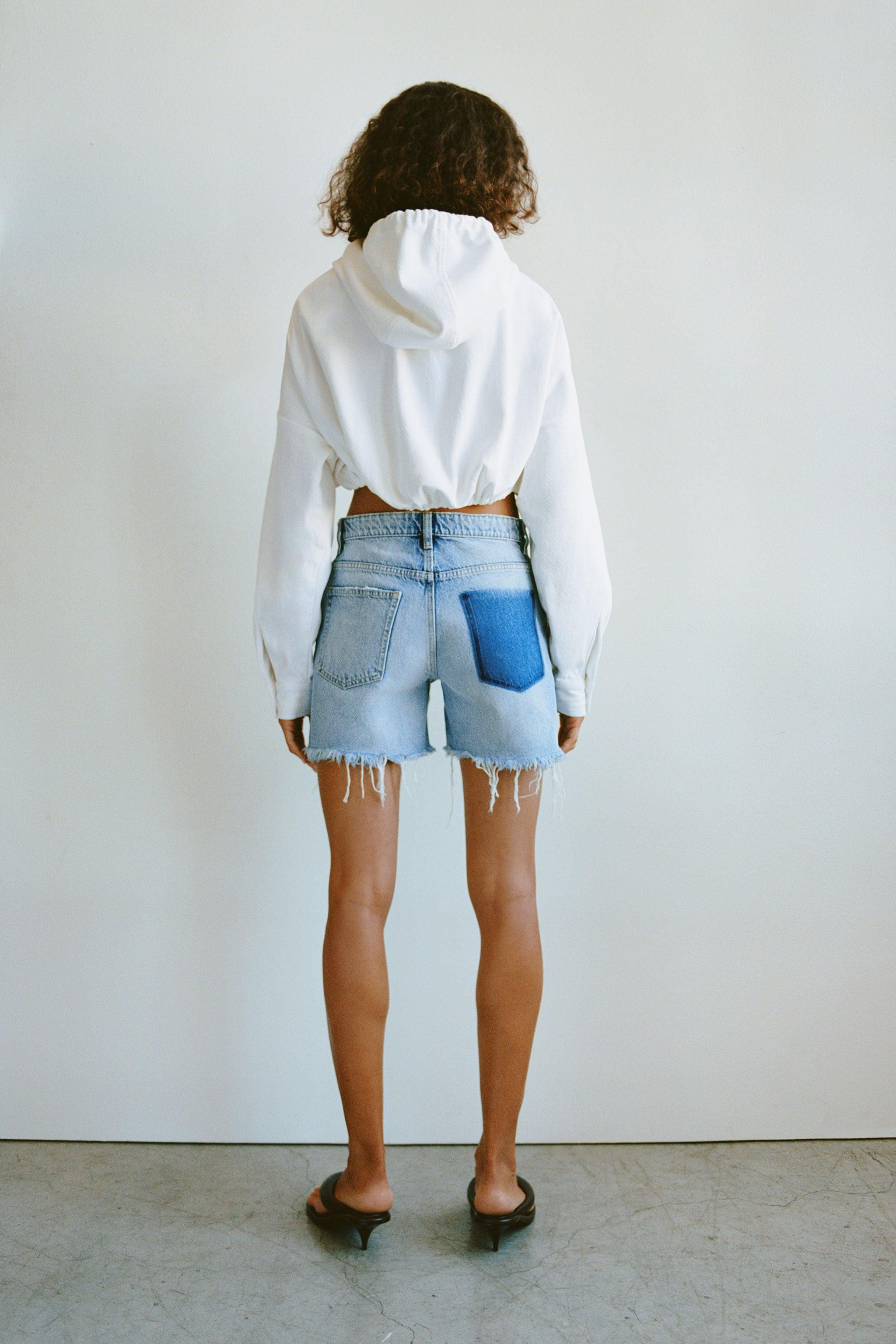 RELAXED RIPPED MID RISE SHORTS 1