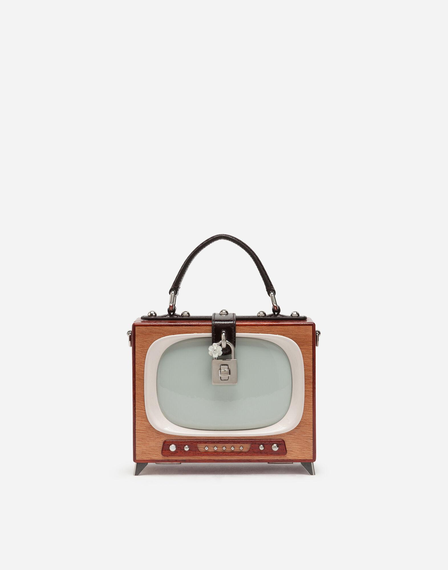 Tv Dolce Box bag in hand-painted wood