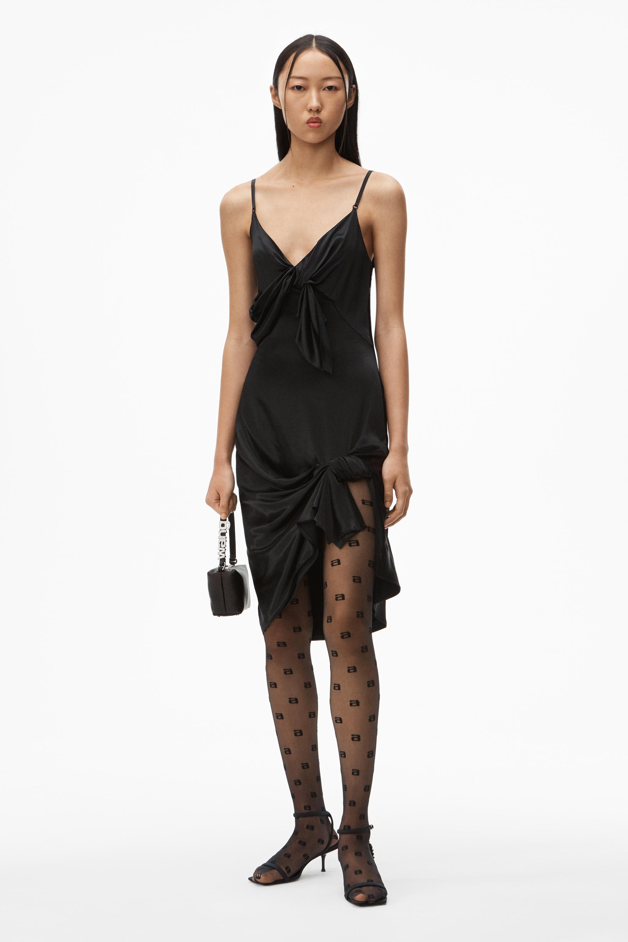 knotted slip dress