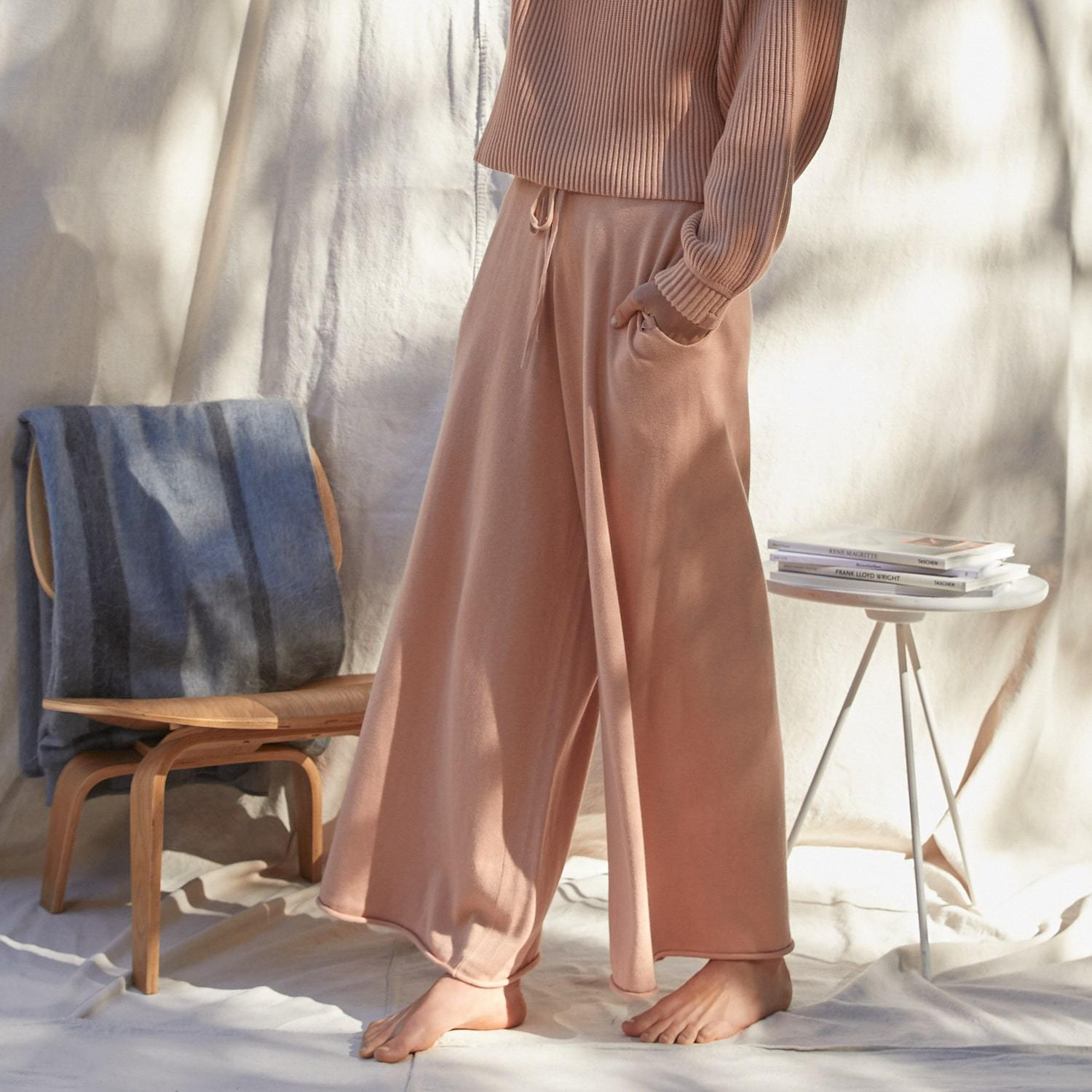 Cozy Cotton Silk Relaxed Ankle Pant 0