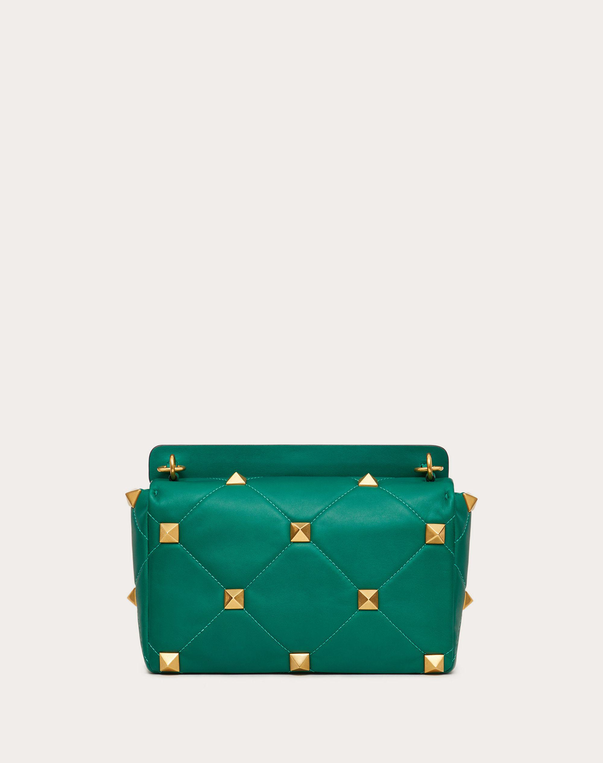 Large Roman Stud The Shoulder Bag in Nappa with Chain 2