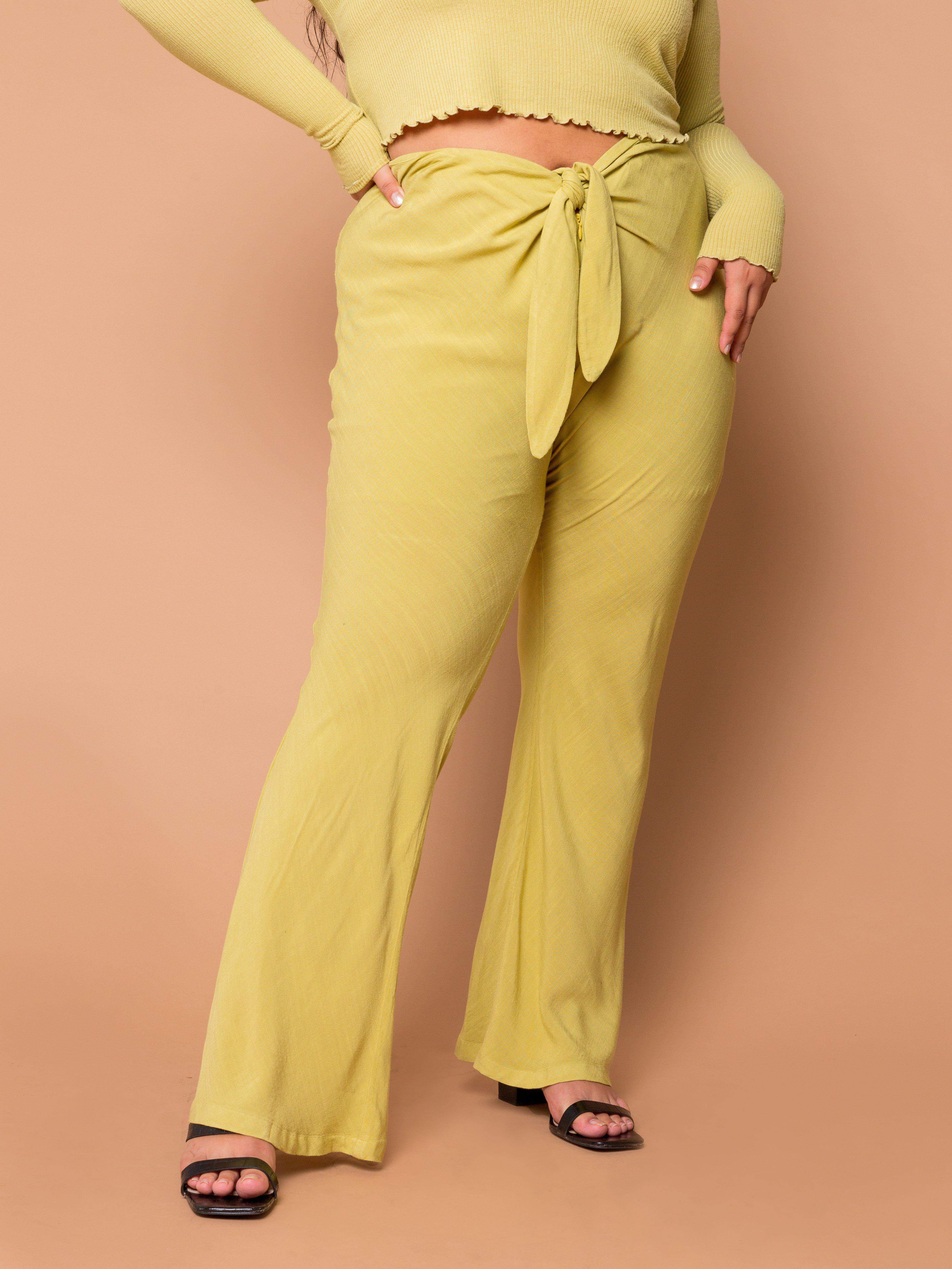 THE TIED SLIM FLARE PANT ~ Pear