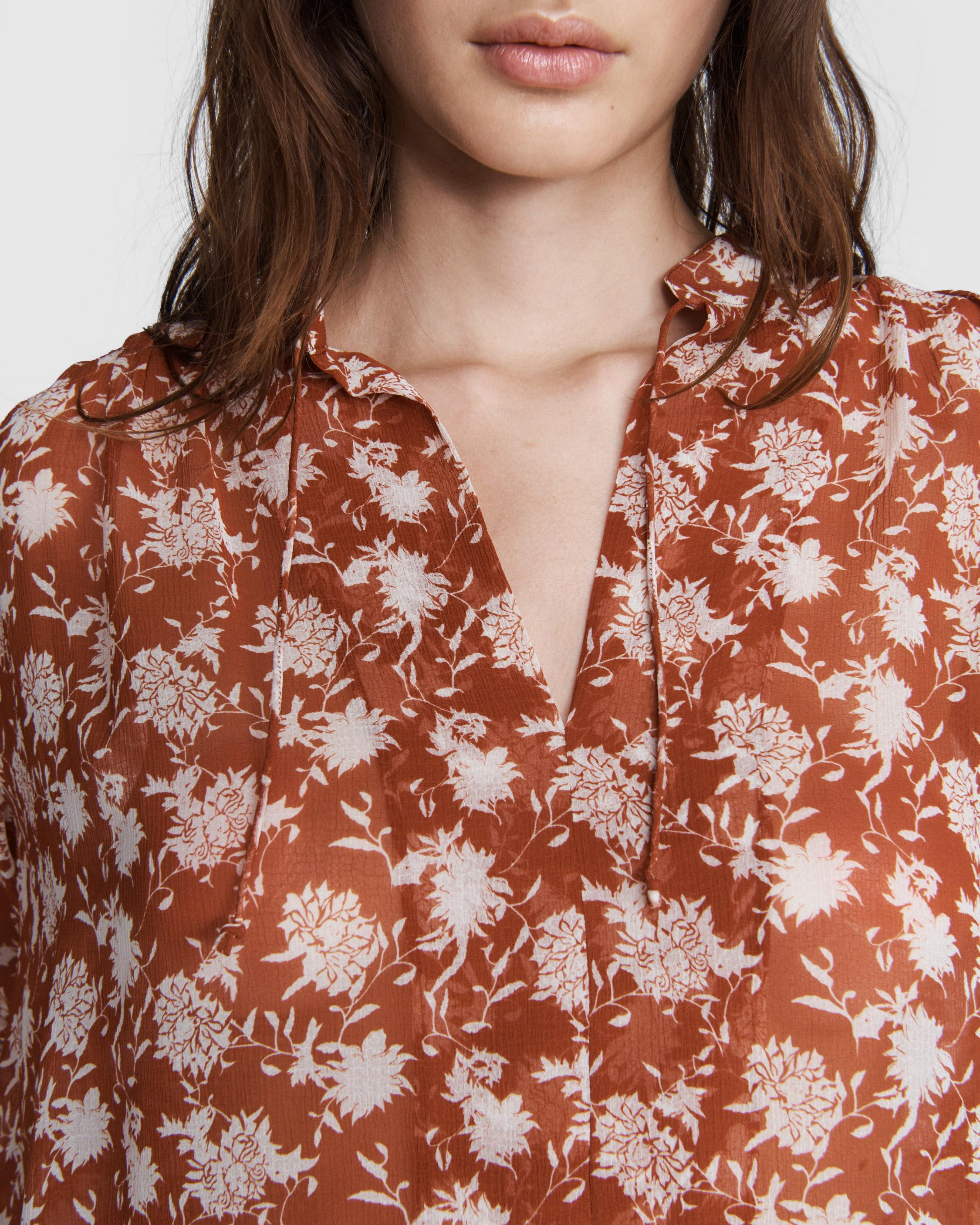 Carly floral tie blouse 5