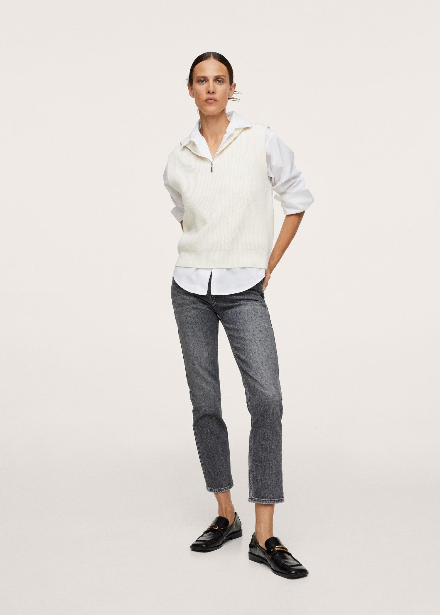 Ankle-length straight-fit jeans 1