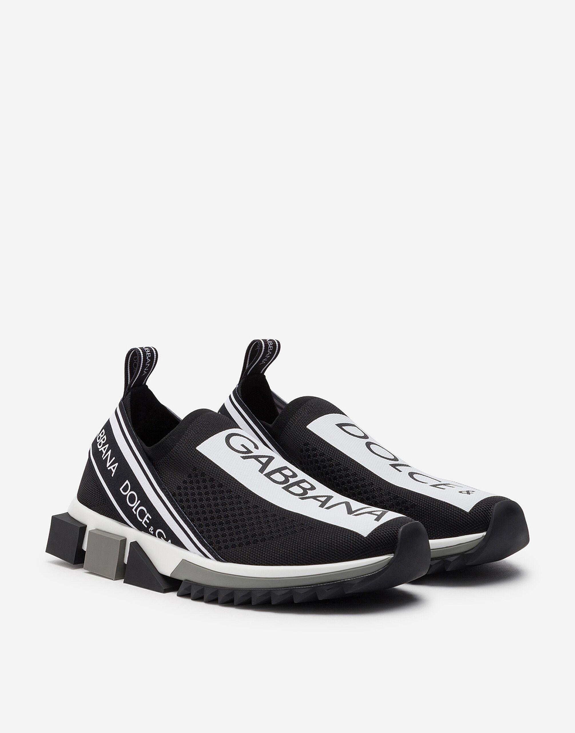 Stretch jersey Sorrento sneakers with logo 1