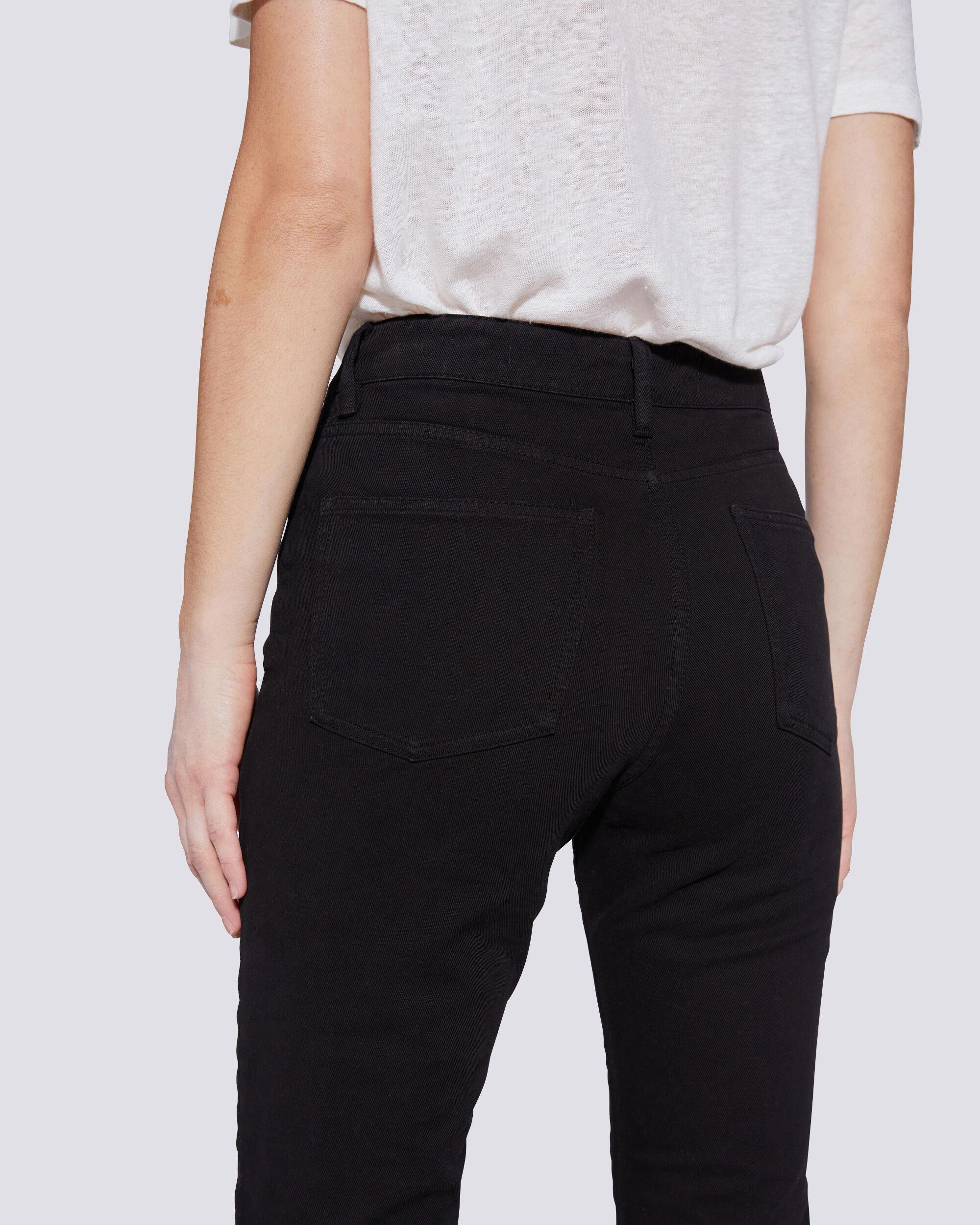 ESME HIGH RISE BUTTON FRONT CROPPED JEANS 4