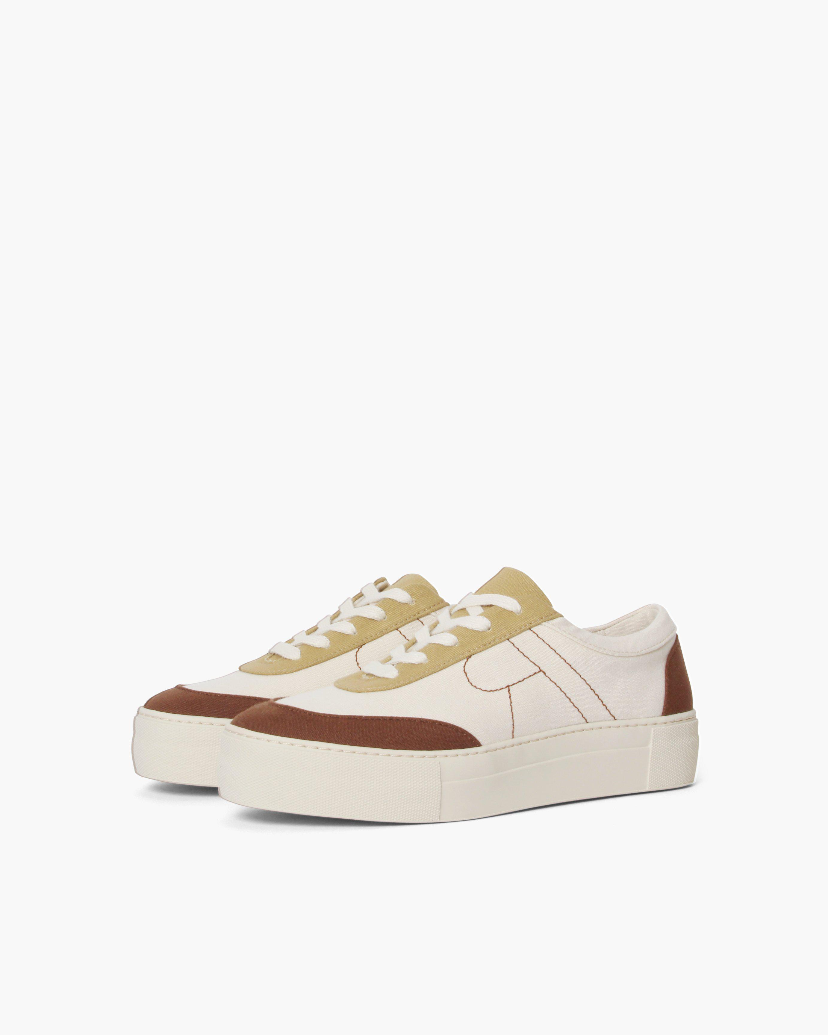 Bailey Sneakers Cotton Canvas Coffee - SALE 1