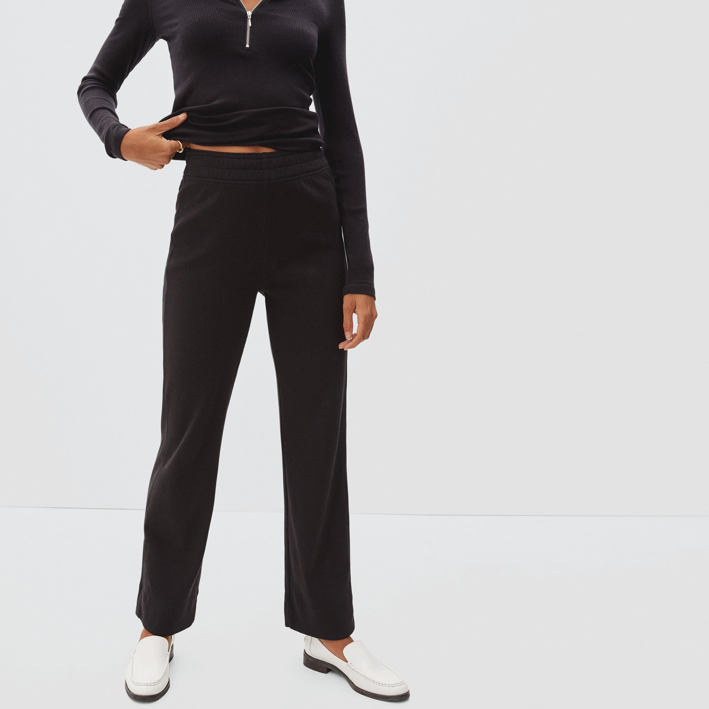The Ribbed Flare Pant