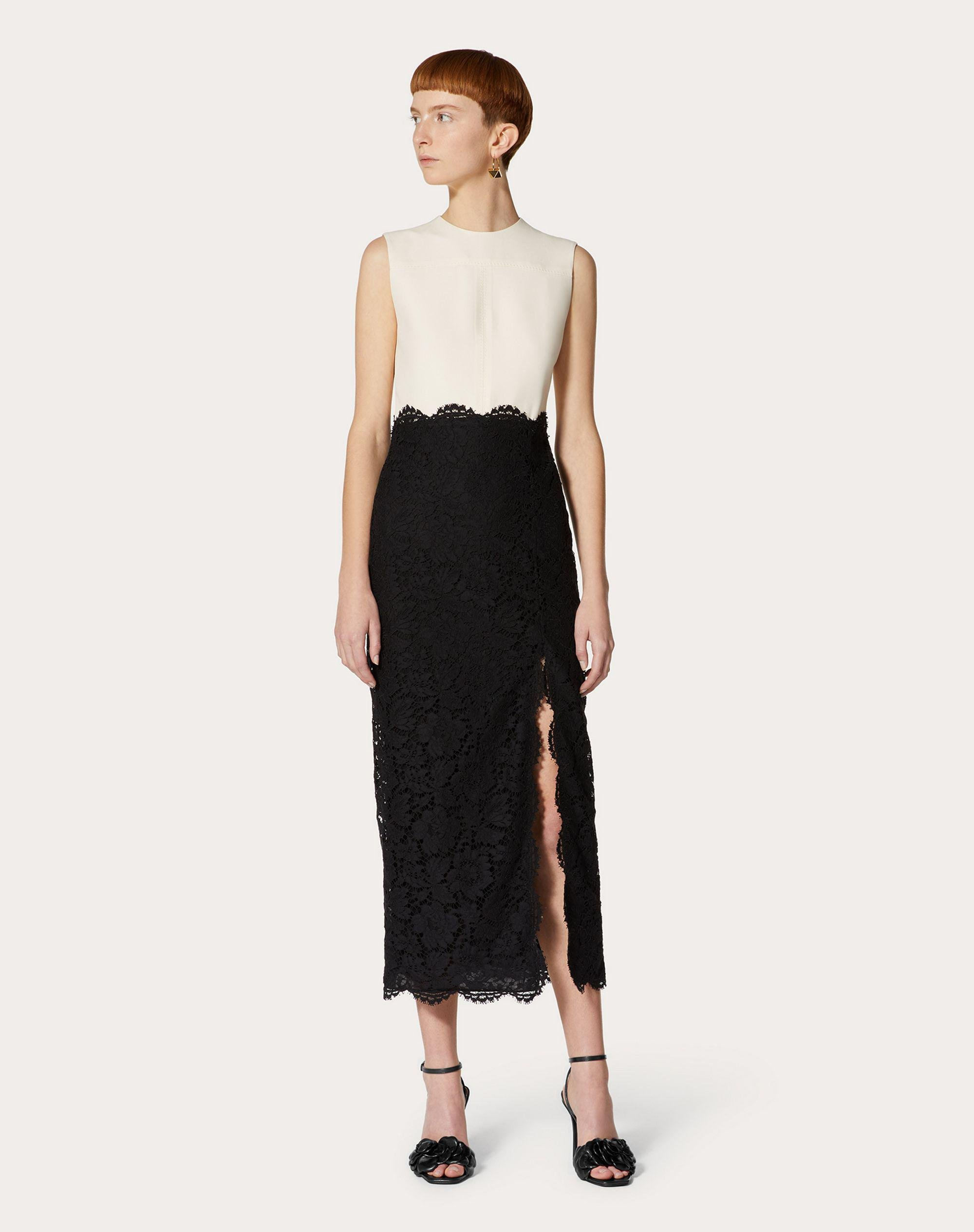 CREPE COUTURE AND HEAVY LACE DRESS 1