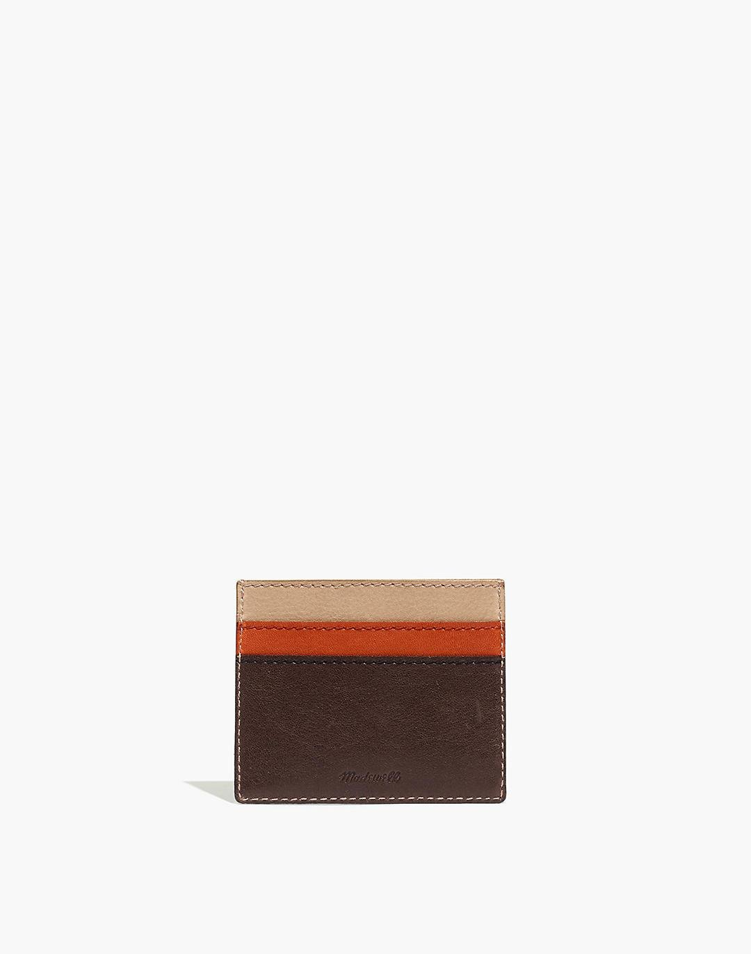 The Leather Card Case: Colorblock Edition