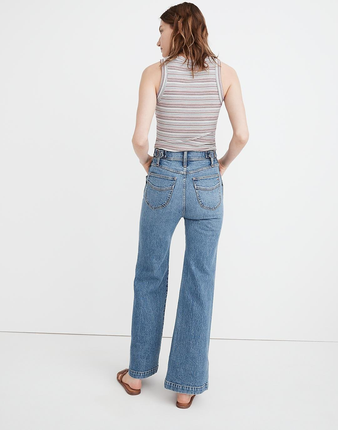"""11"""" High-Rise Flare Jeans in Erickson Wash: Stitched-Pocket Edition 2"""