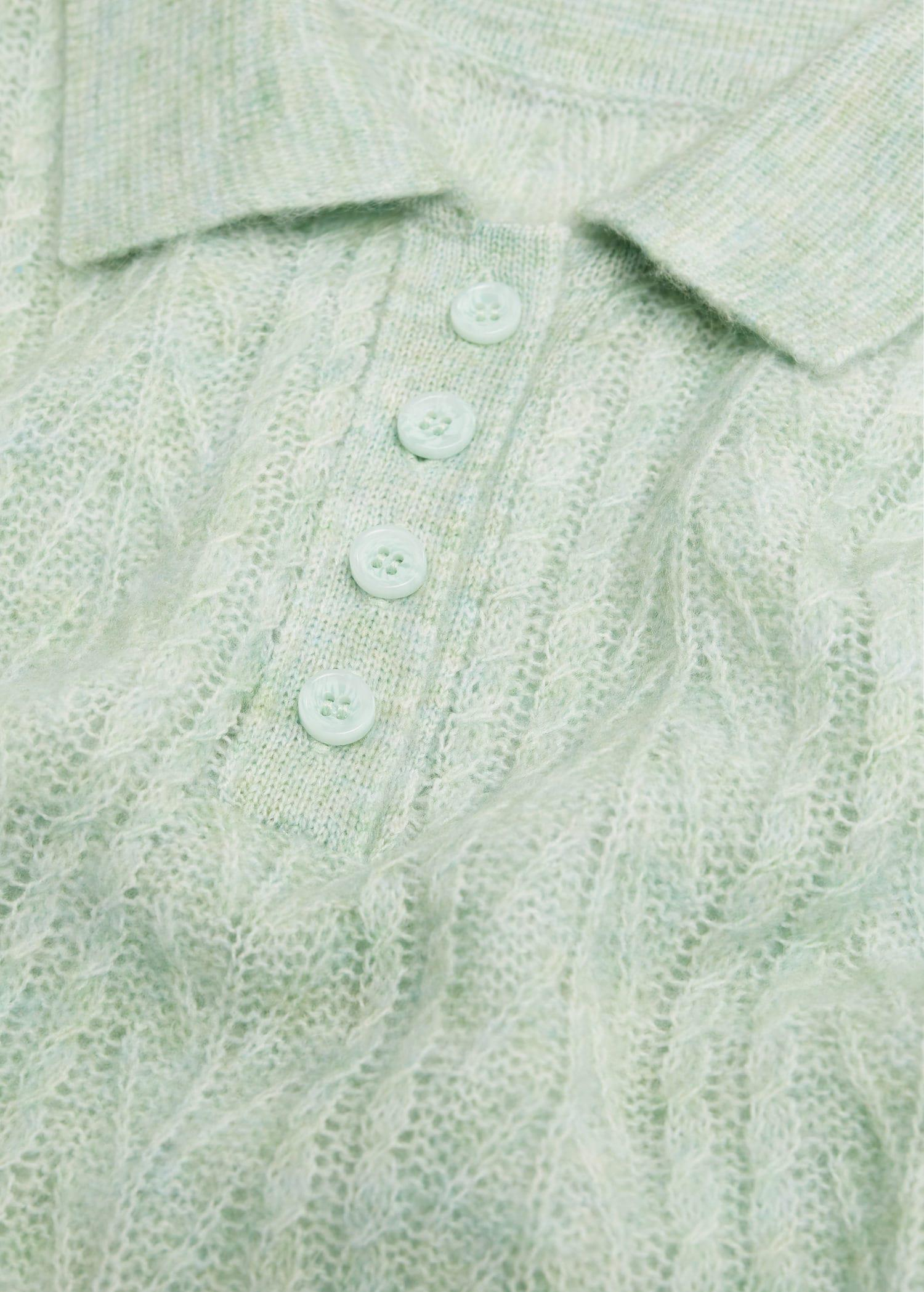 Contrasting knitted polo shirt 7