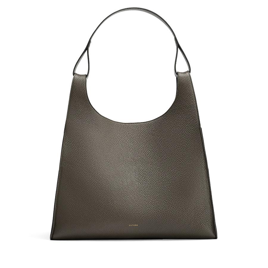 Women's Oversized Double Loop Bag in Dark Olive | Pebbled Leather by Cuyana