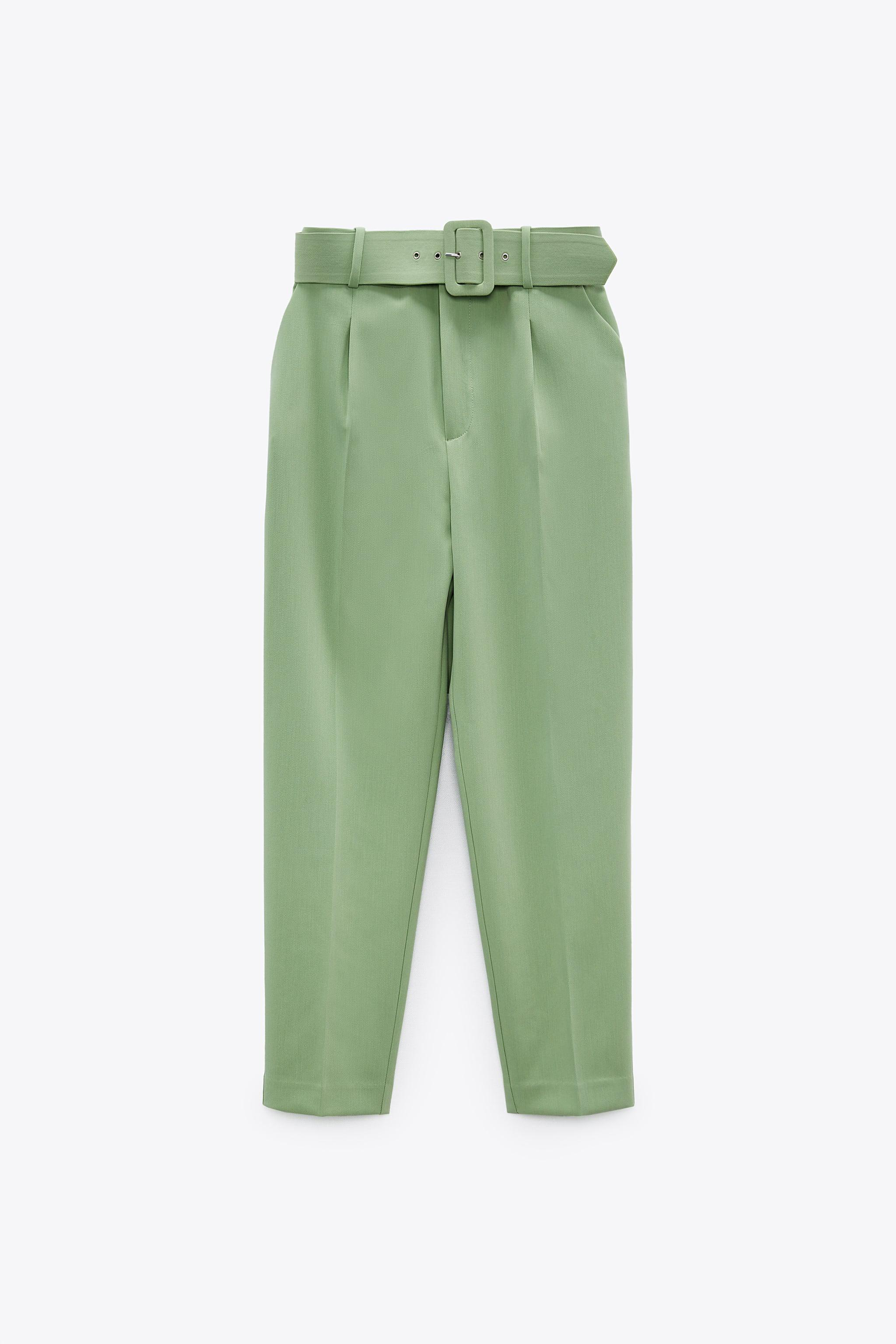 HIGH-WAISTED BELTED PANTS 2