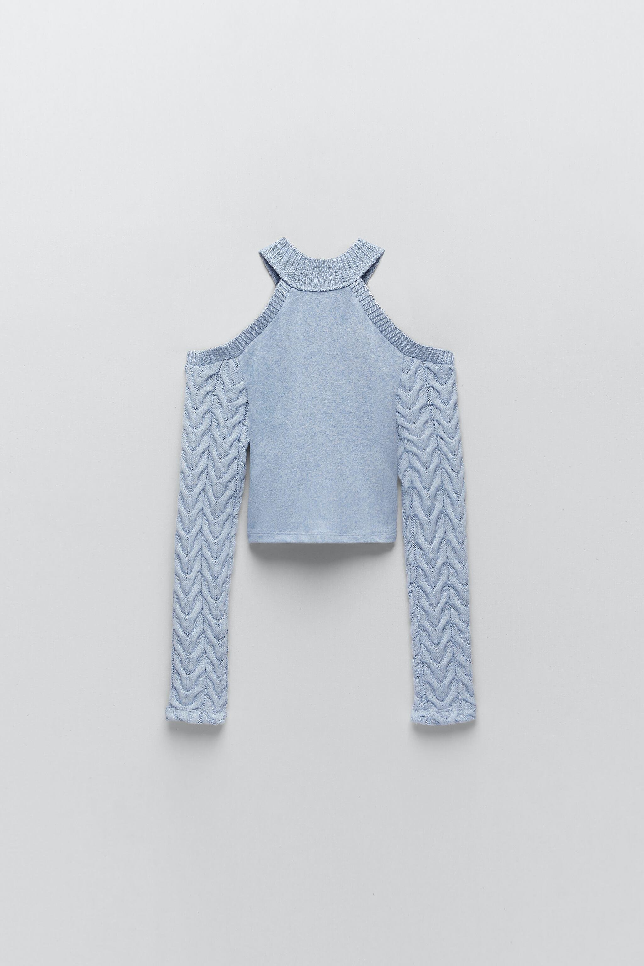 CUT OUT CABLE-KNIT TOP 3