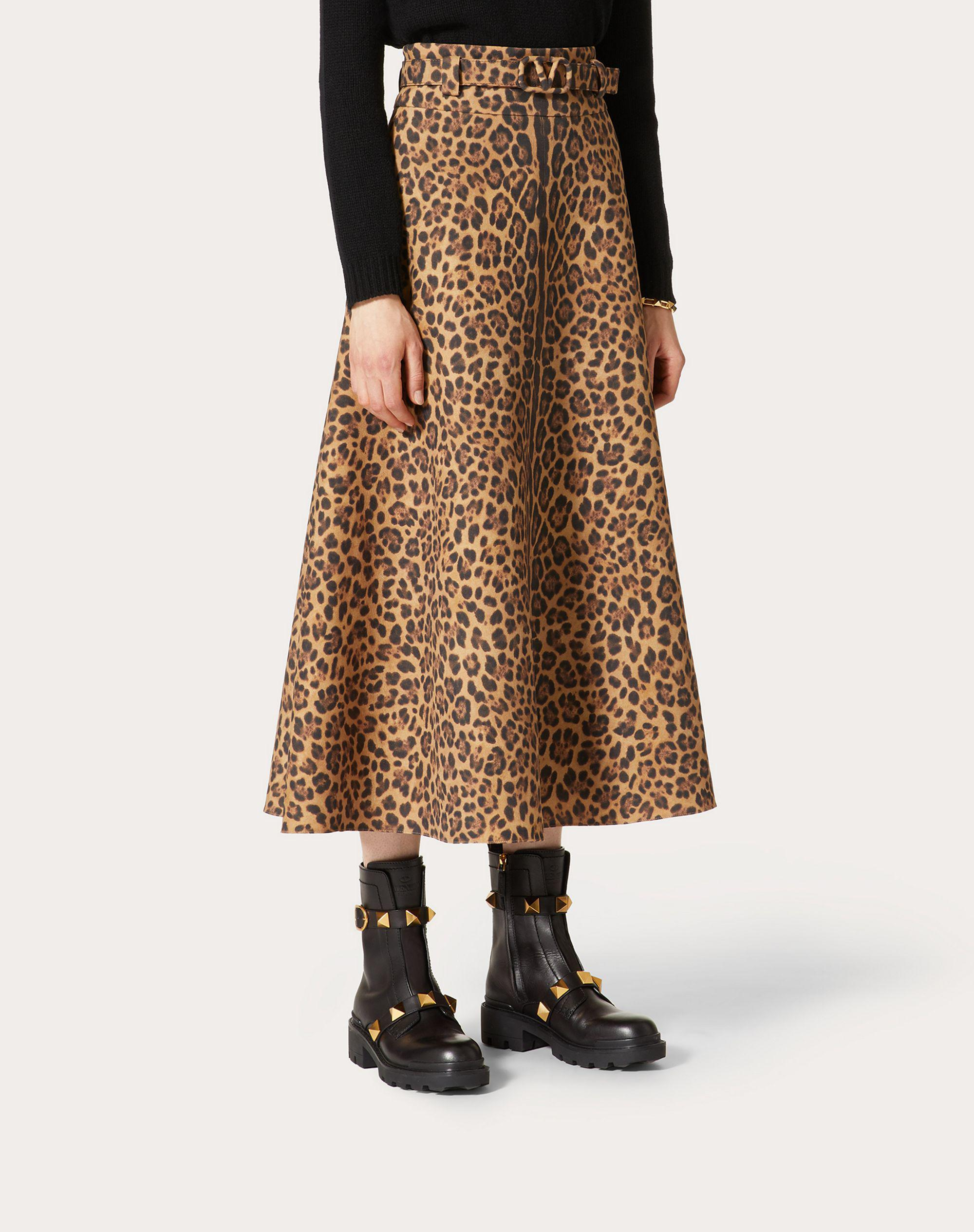 PRINTED CREPE COUTURE SKIRT 1