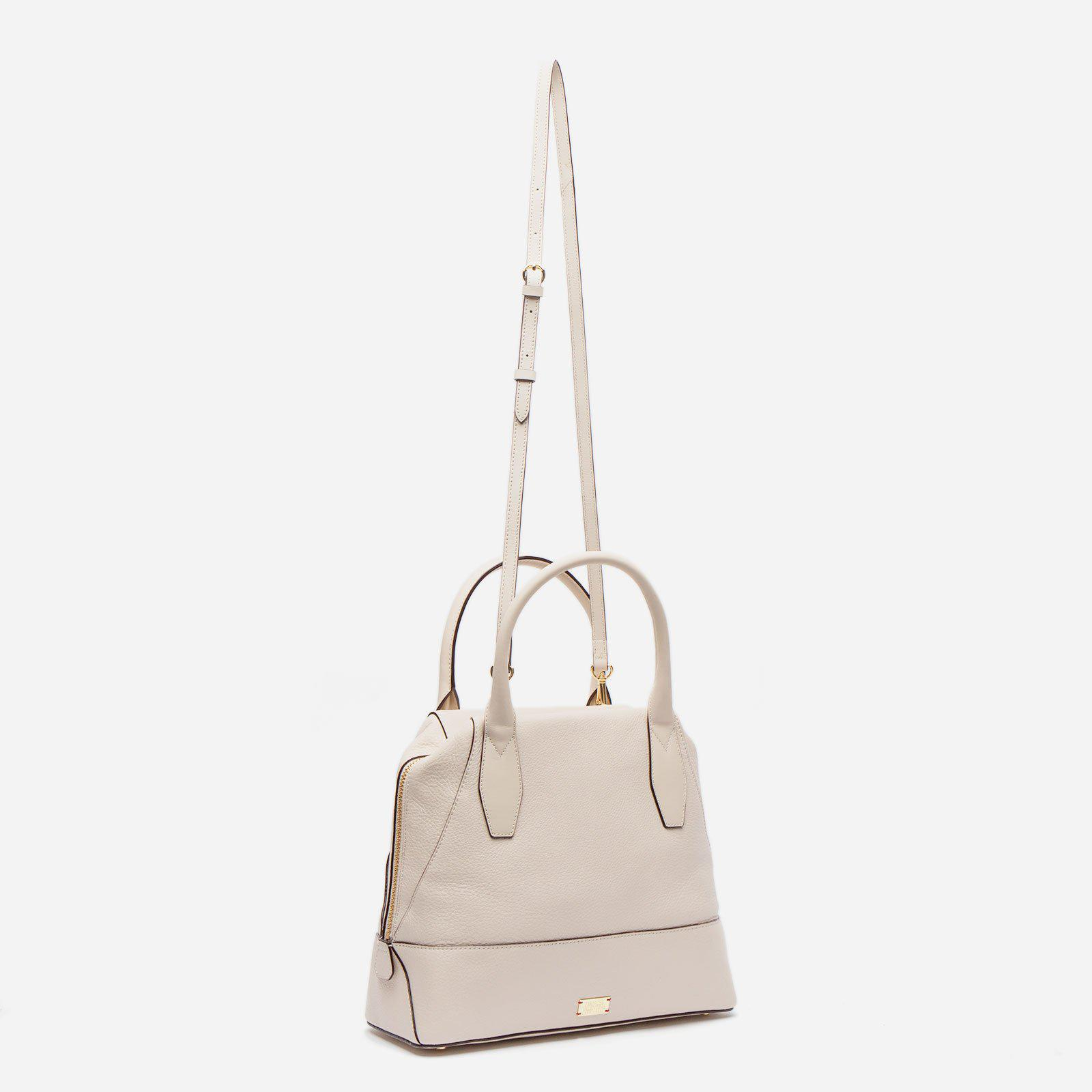 Abby Tote Tumbled Leather Oyster 2