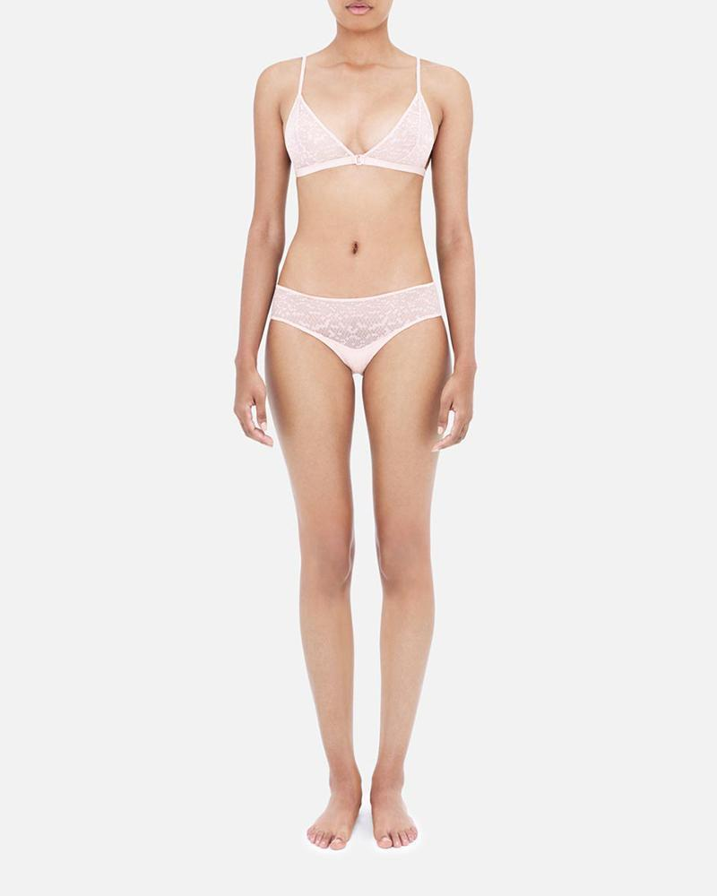 Snake lace briefs dusty pink