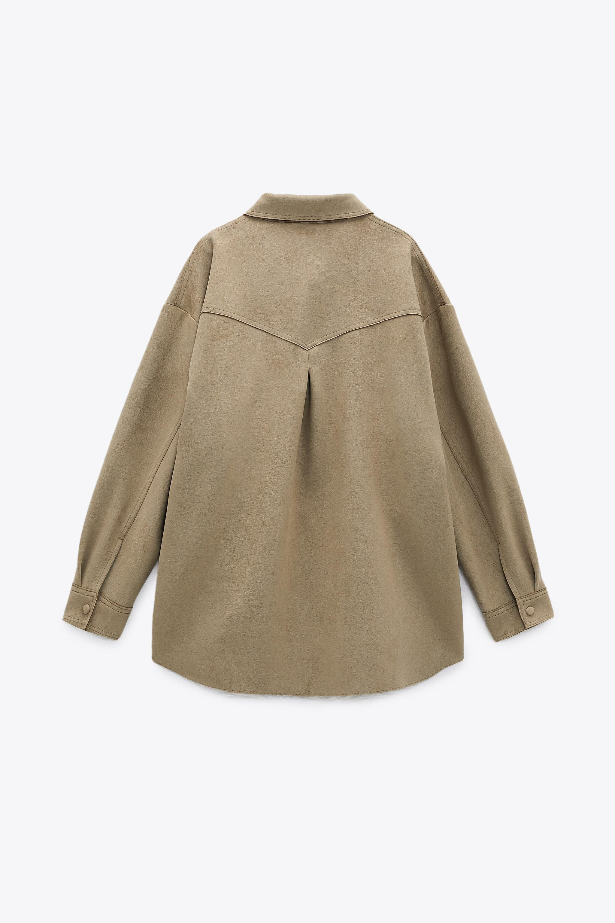 FAUX SUEDE OVERSHIRT 1