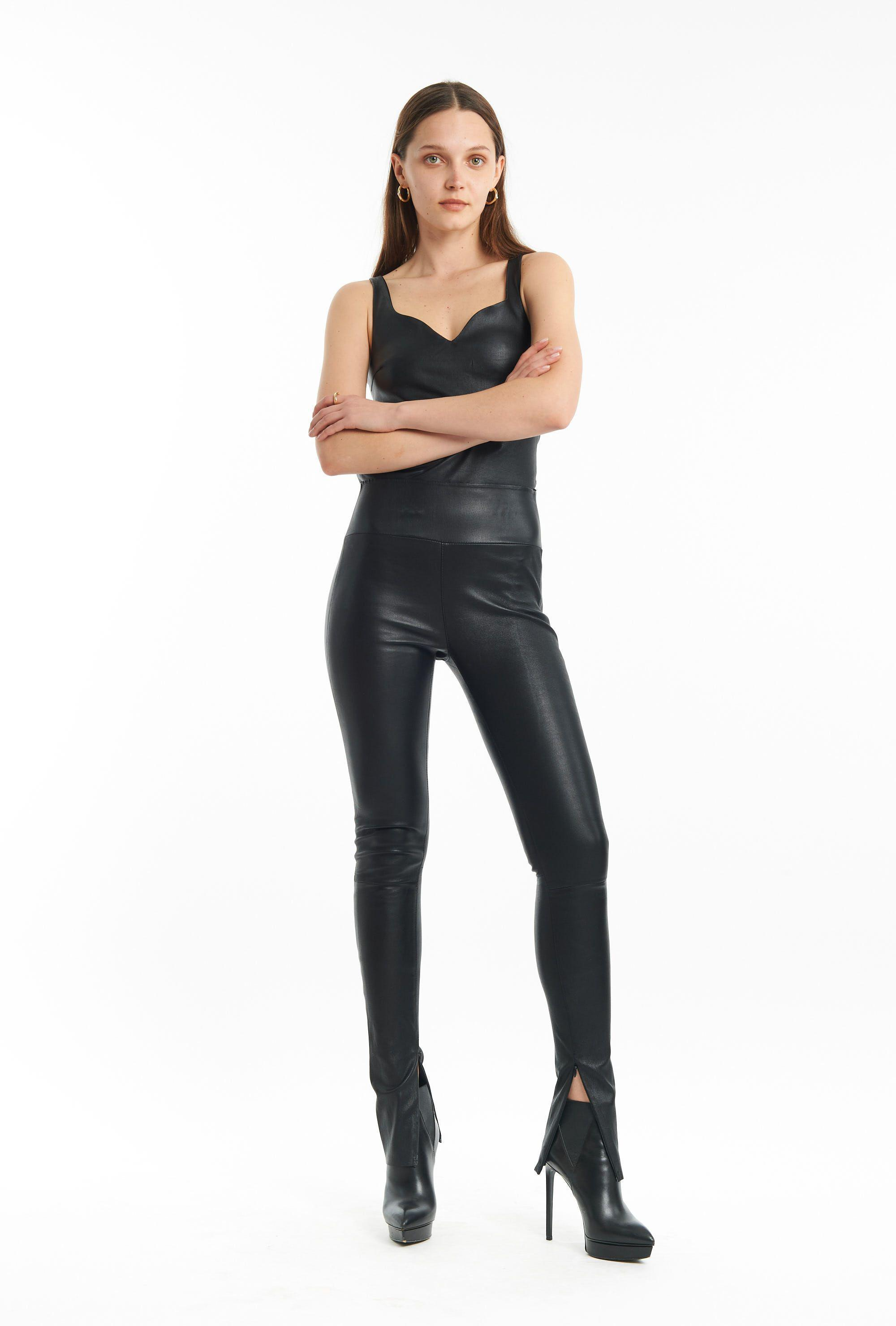 Black Ankle Legging With Zipper