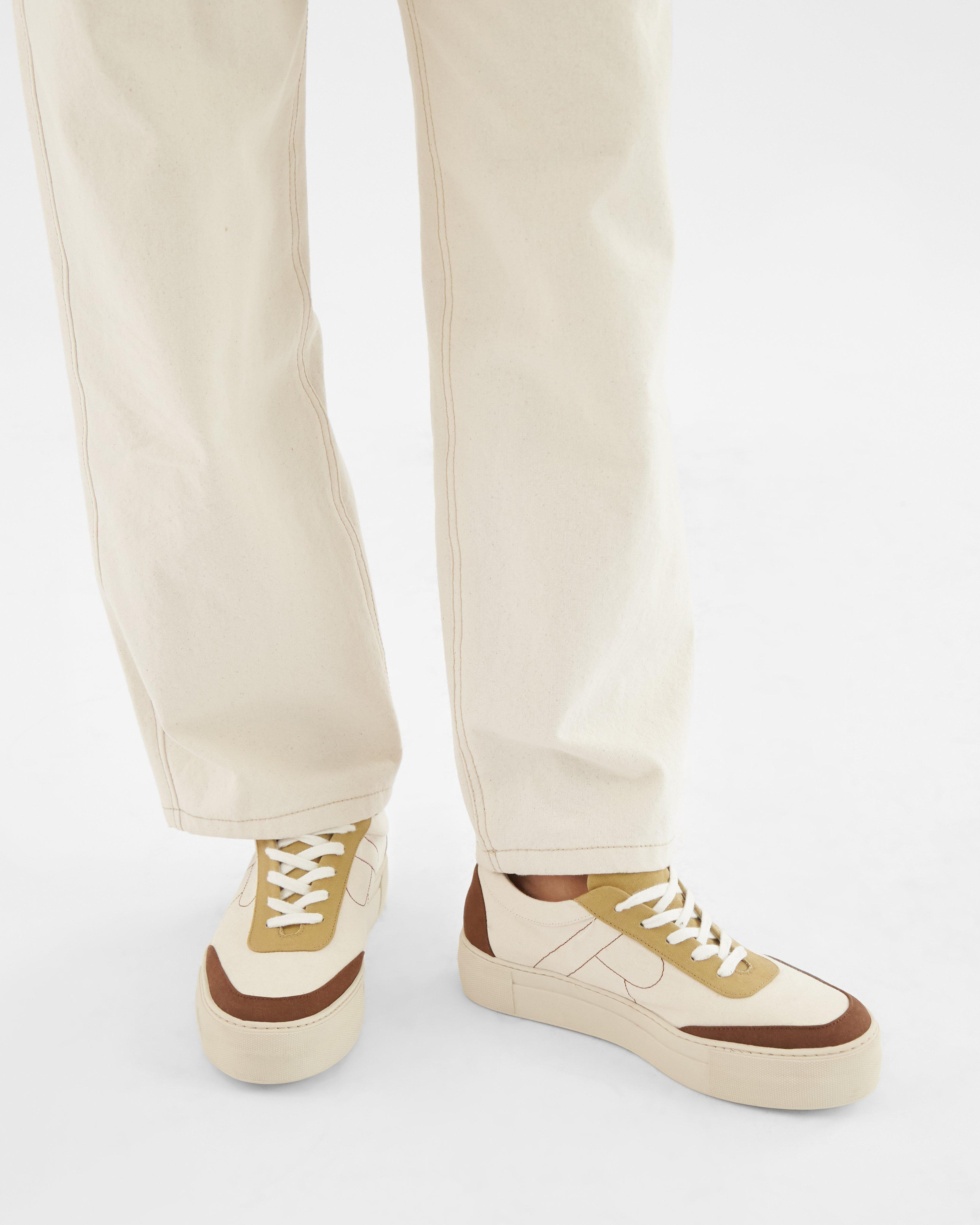 Bailey Sneakers Cotton Canvas Coffee - SALE 4
