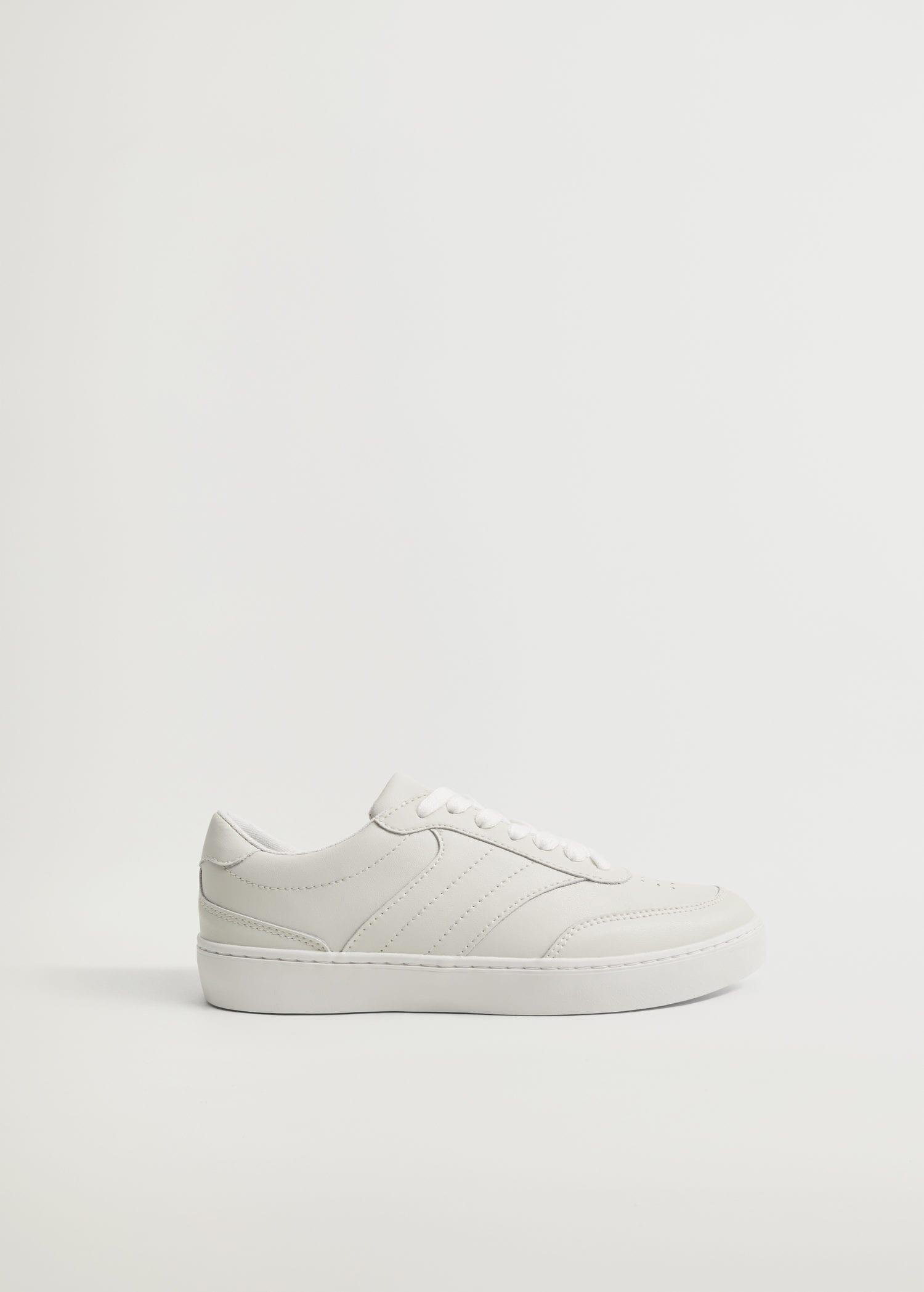 Lace-up leather sneakers