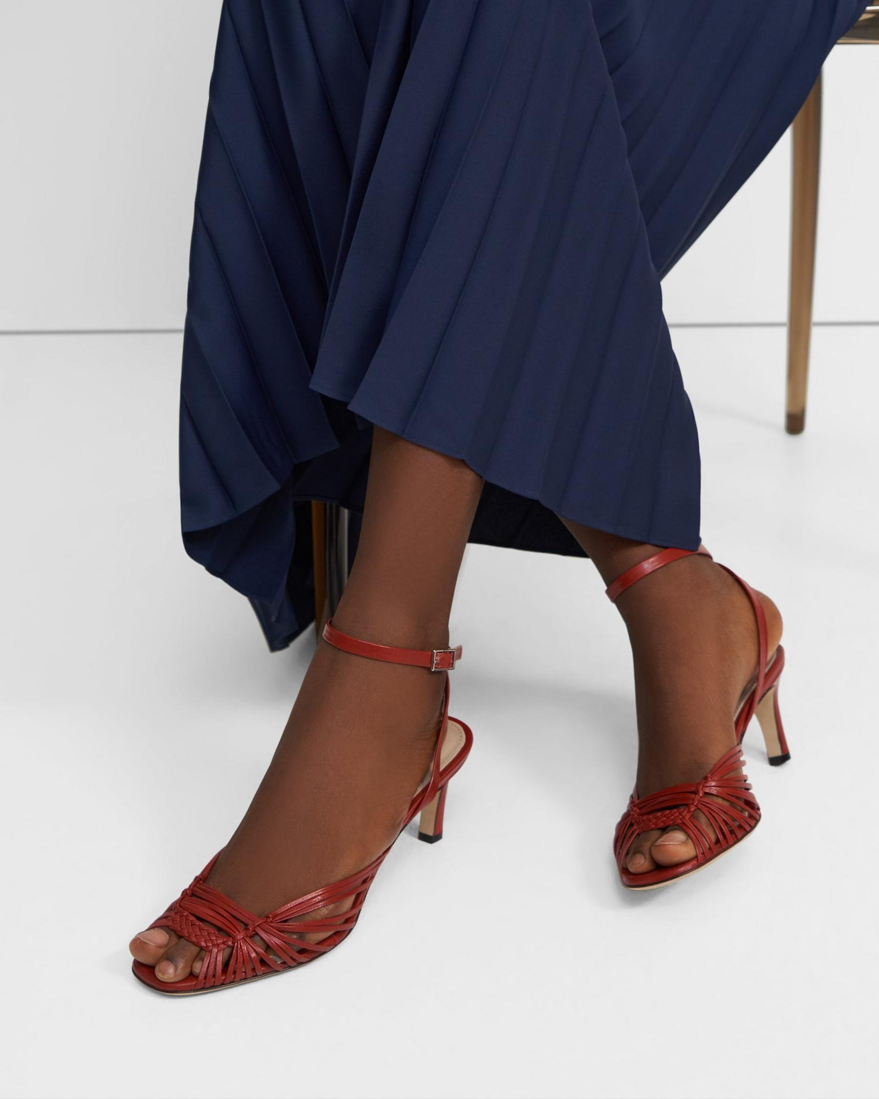 Hand-Braided Sandal in Leather