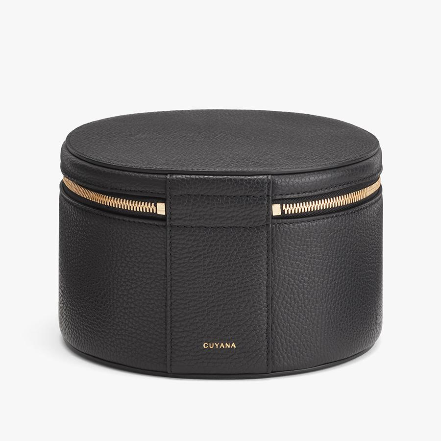 Women's Leather Wellness Case in Black   Pebbled Leather by Cuyana 2