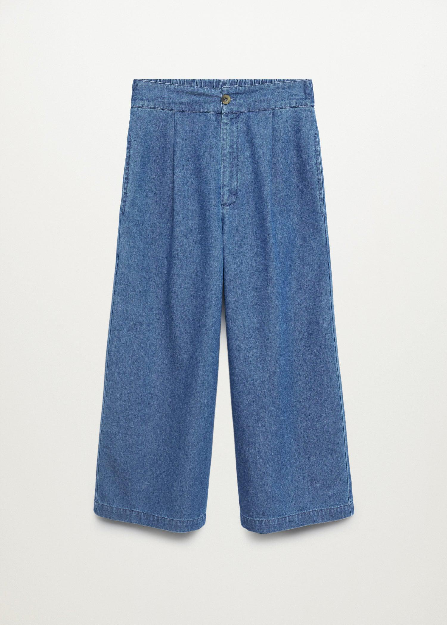 Pleated culottes pants 6