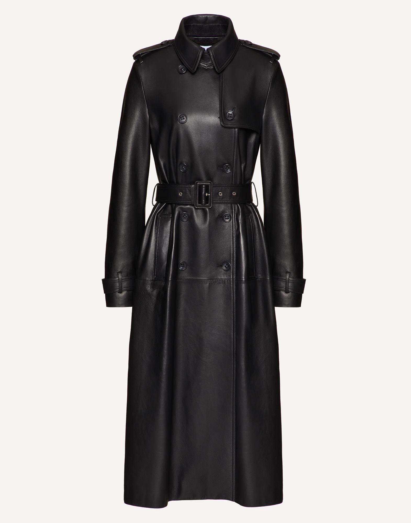 PLEATED LEATHER TRENCH COAT 4