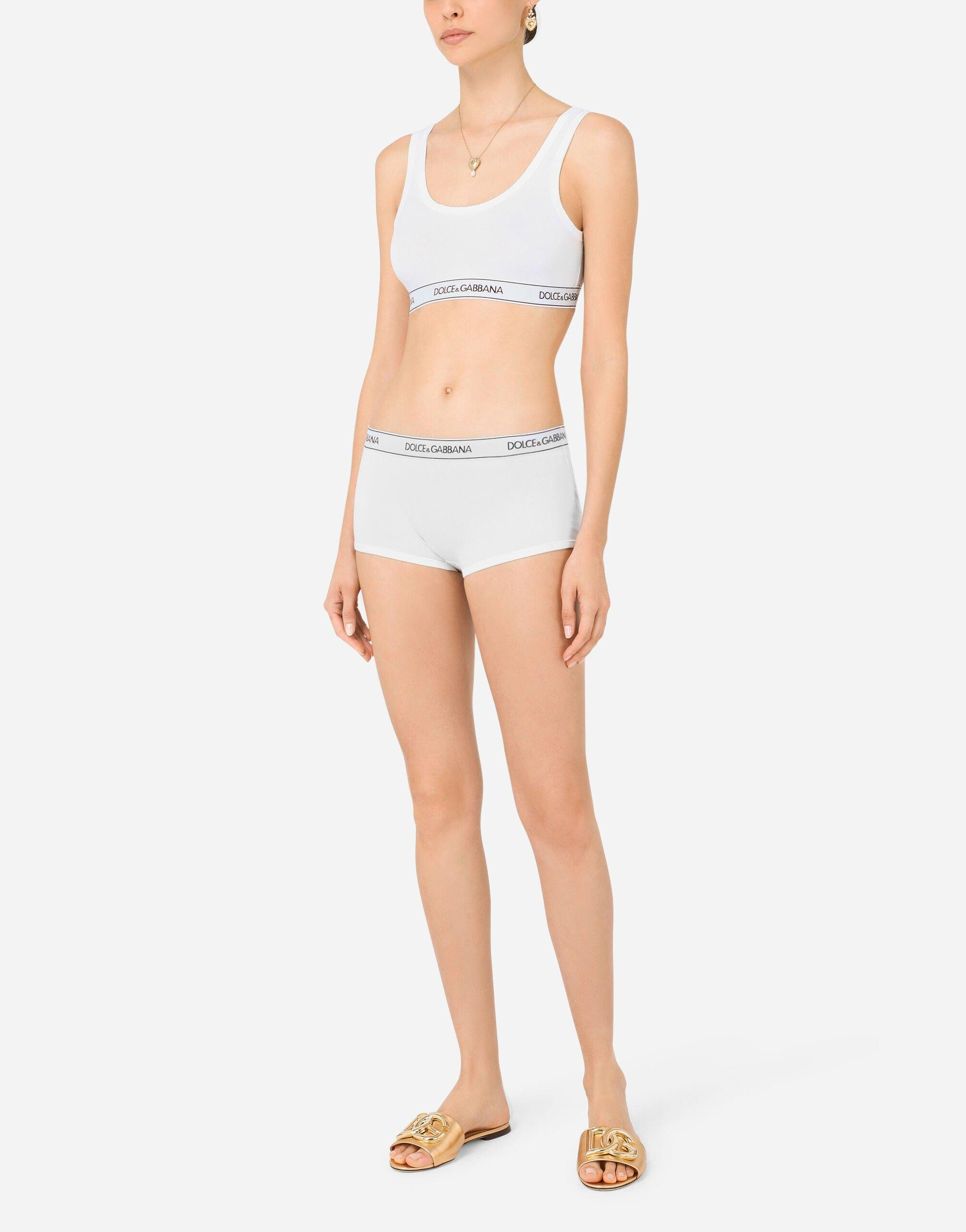Jersey bralet with branded elastic and wide straps