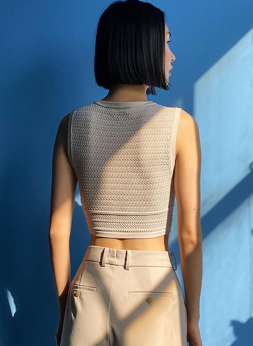 Pointelle Cropped Tank 2