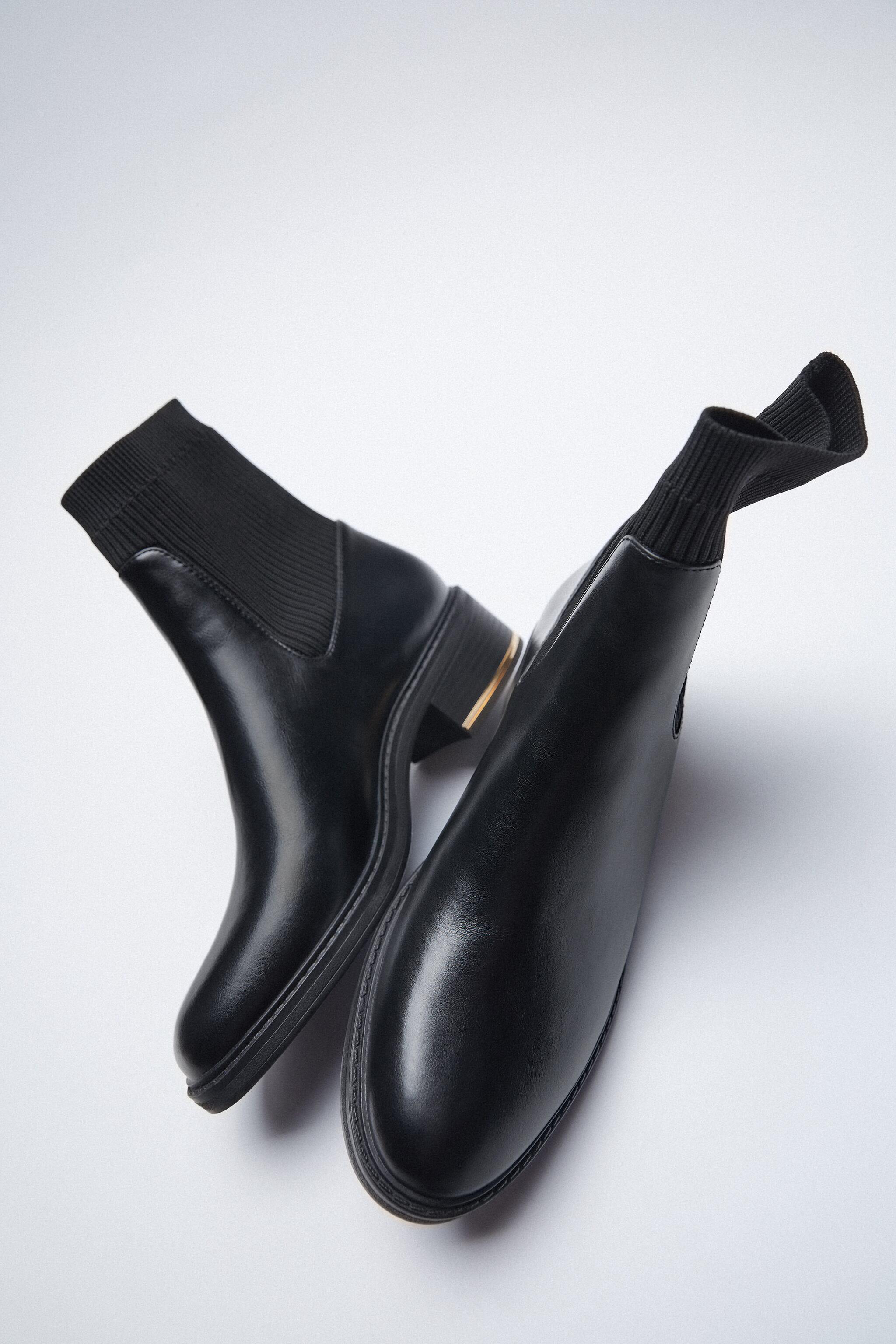 LOW HEELED SOCK-STYLE ANKLE BOOTS 4